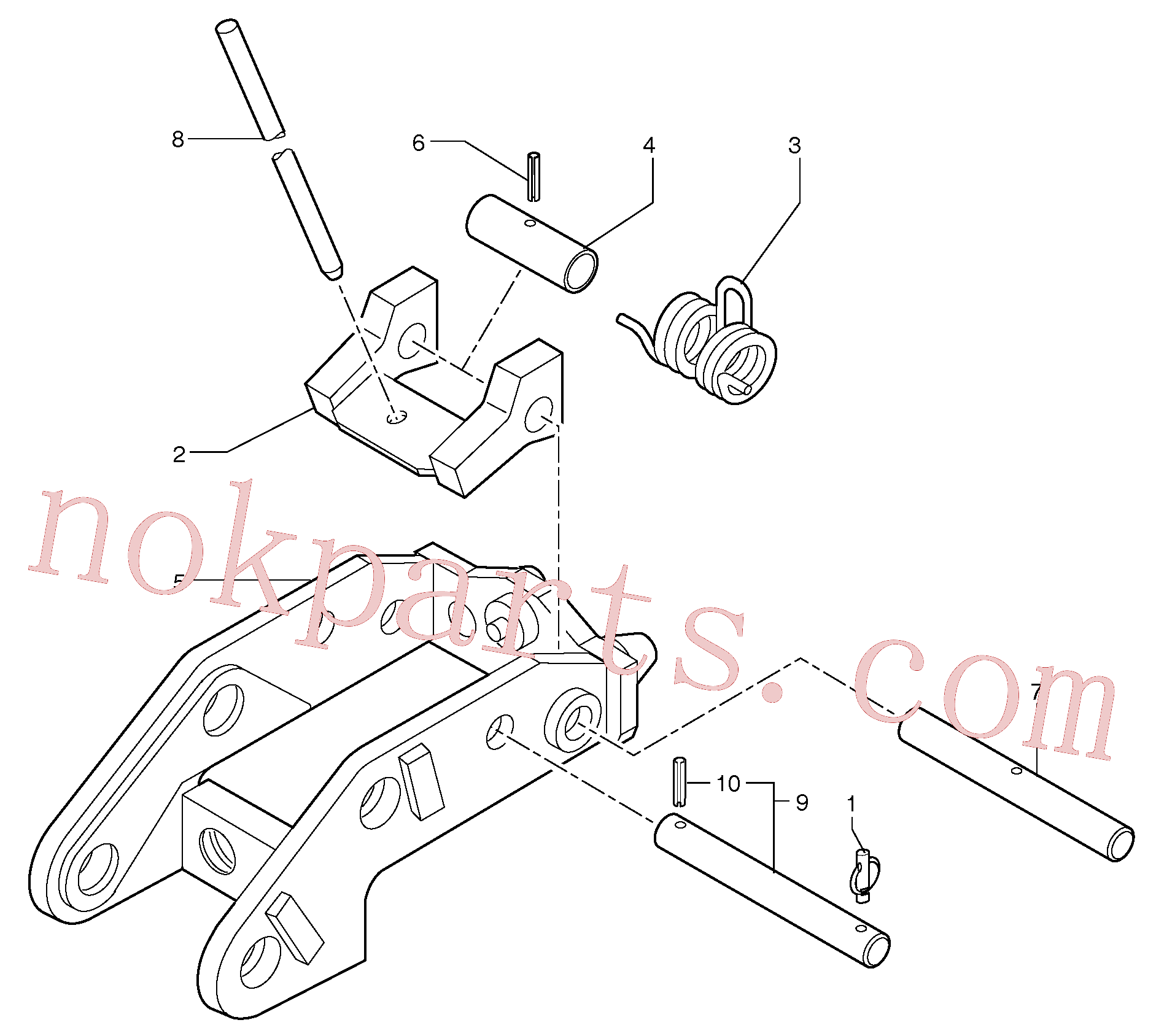 VOE11805859 for Volvo Tool holder / mechanical control(9241Z1 assembly)