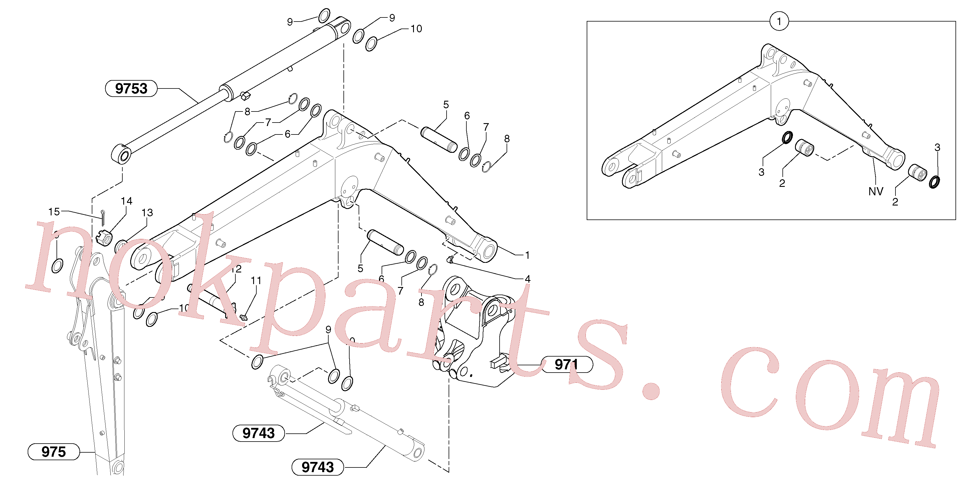PJ5540111 for Volvo Boom(974Y1 assembly)