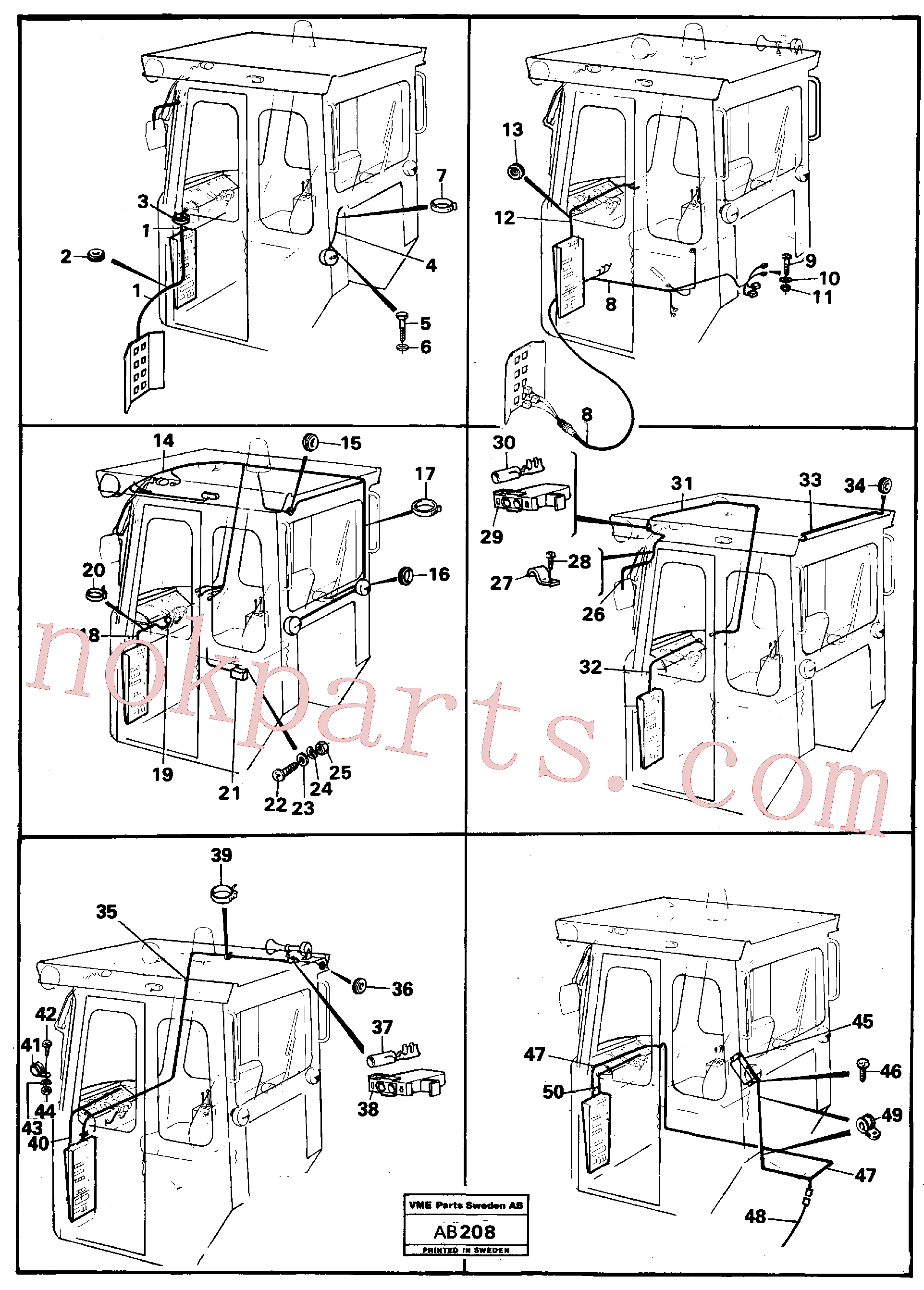 VOE14013853 for Volvo Electrical system, cab(AB208 assembly)