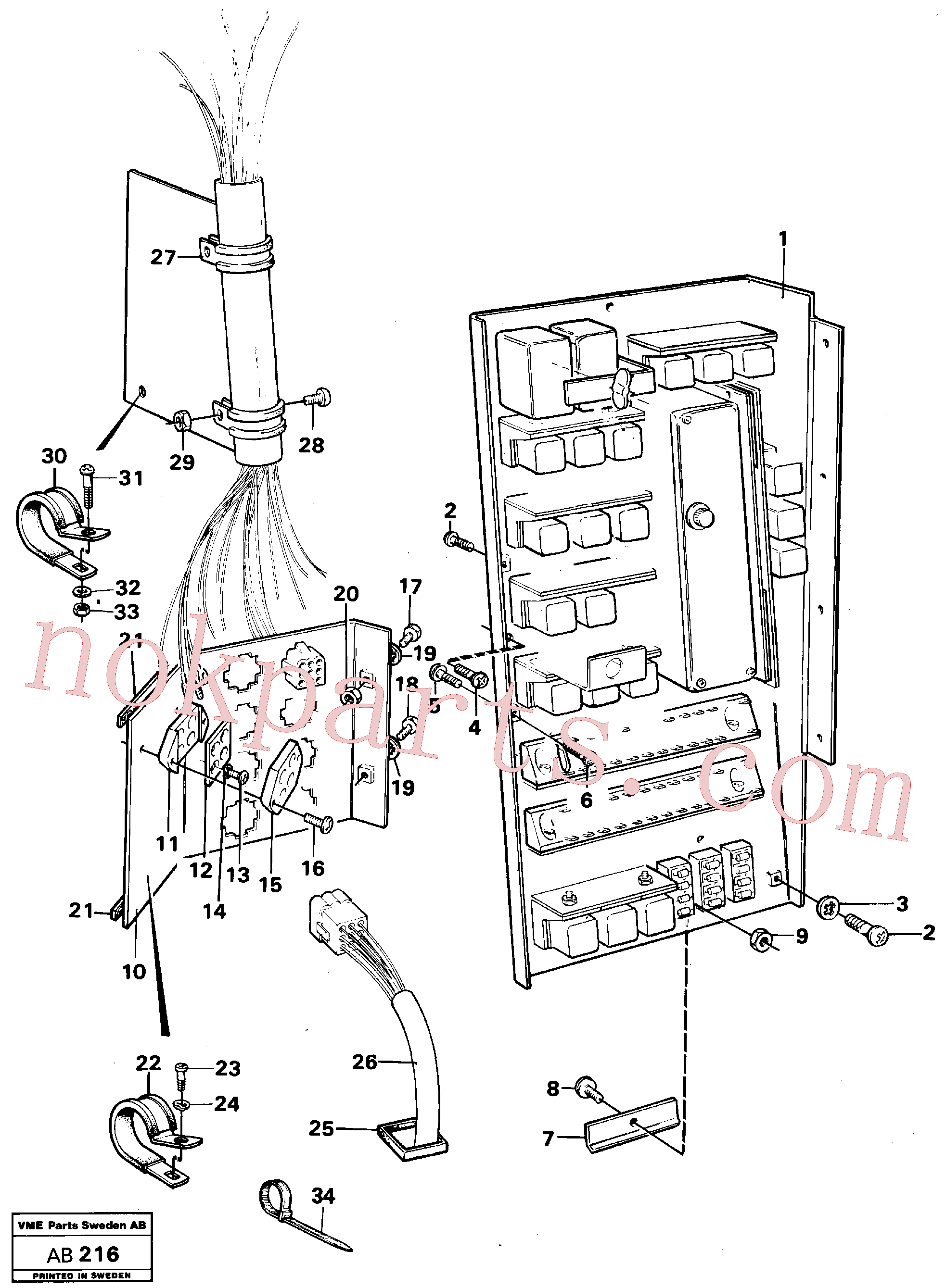 VOE14013853 for Volvo Distribution box with fitting parts(AB216 assembly)