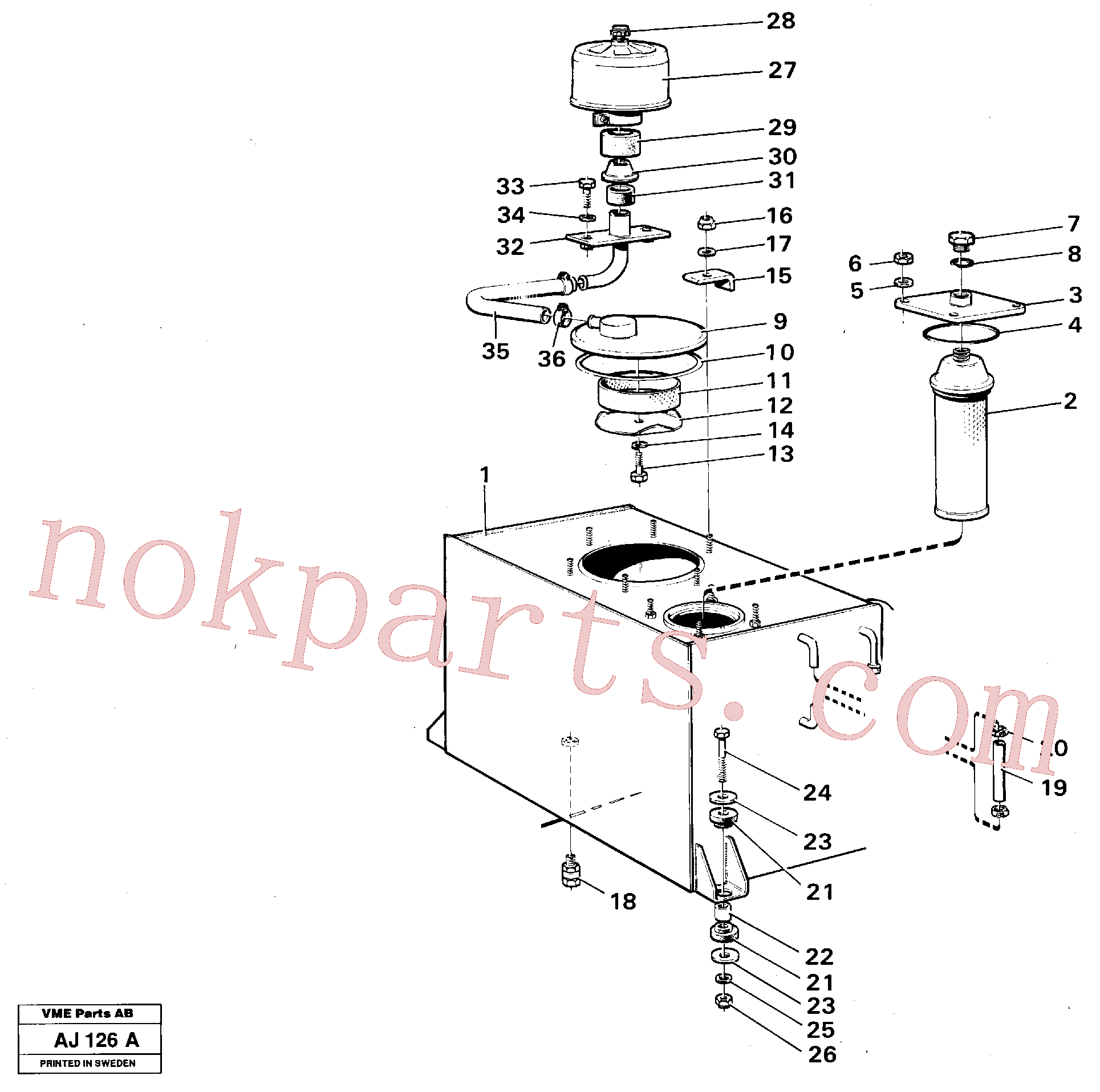VOE970976 for Volvo Hydraulic tank(AJ126A assembly)