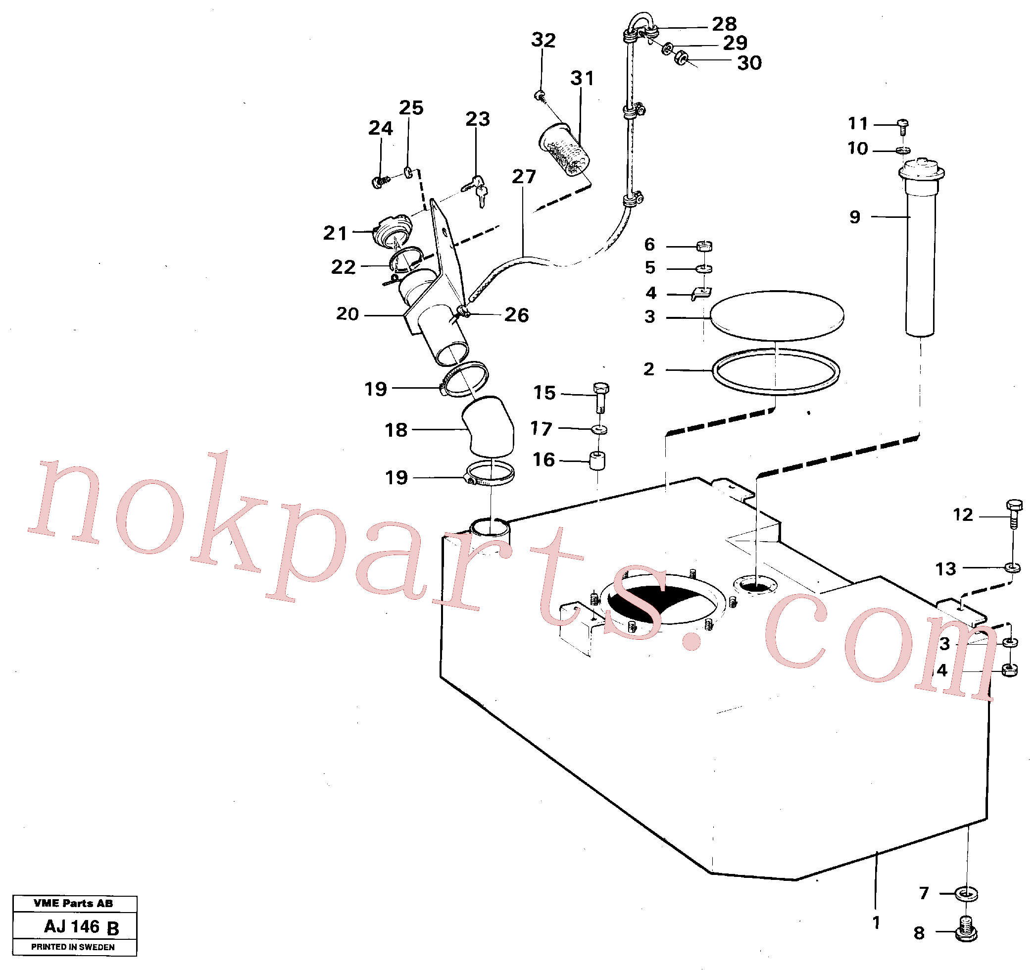 VOE957184 for Volvo Fuel tank(AJ146B assembly)