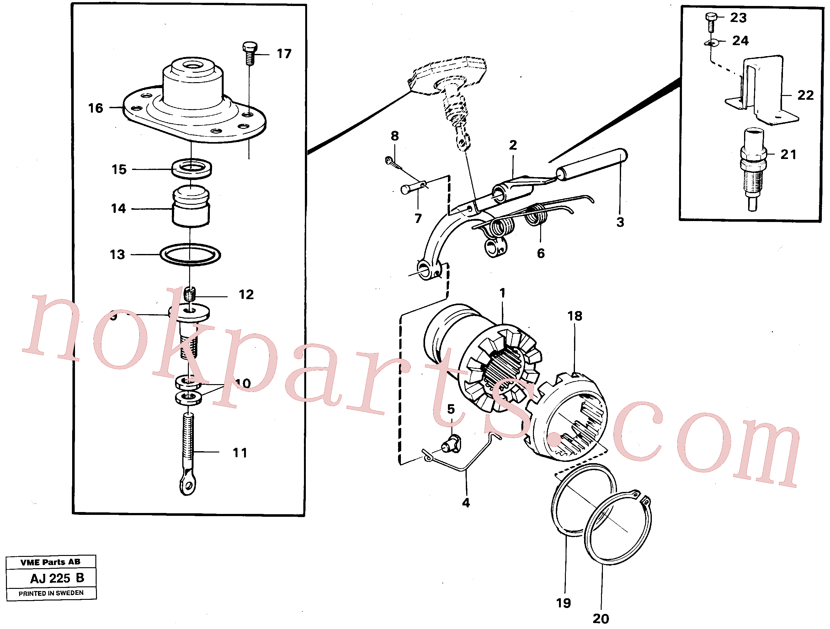VOE907822 for Volvo Differential lock(AJ225B assembly)
