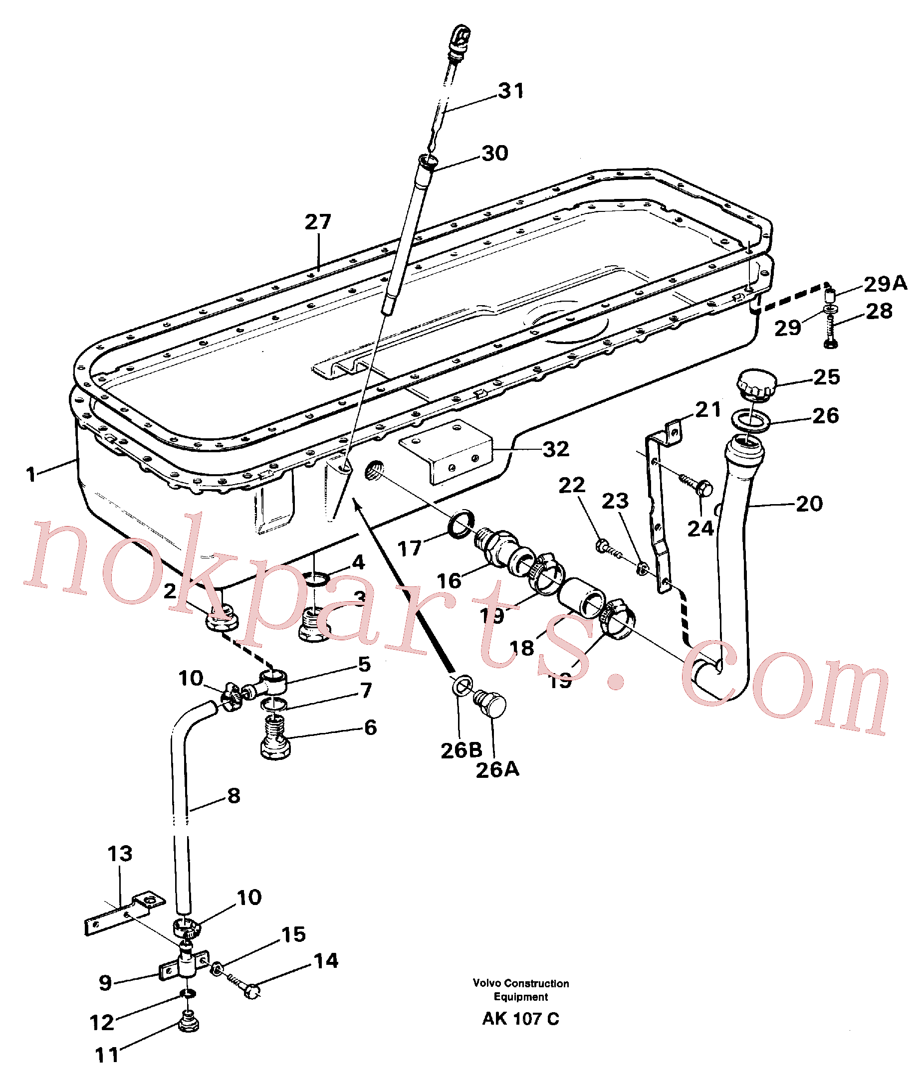 VOE925064 for Volvo Oil sump(AK107C assembly)