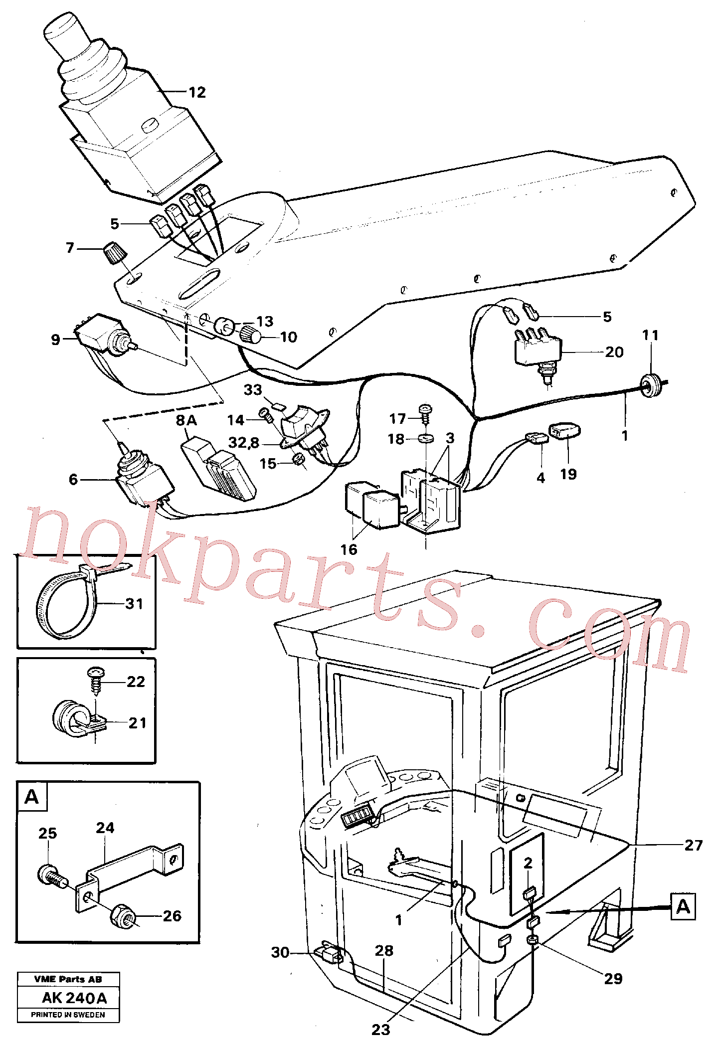 VOE946556 for Volvo Cable harness, CDC-steering.(AK240A assembly)