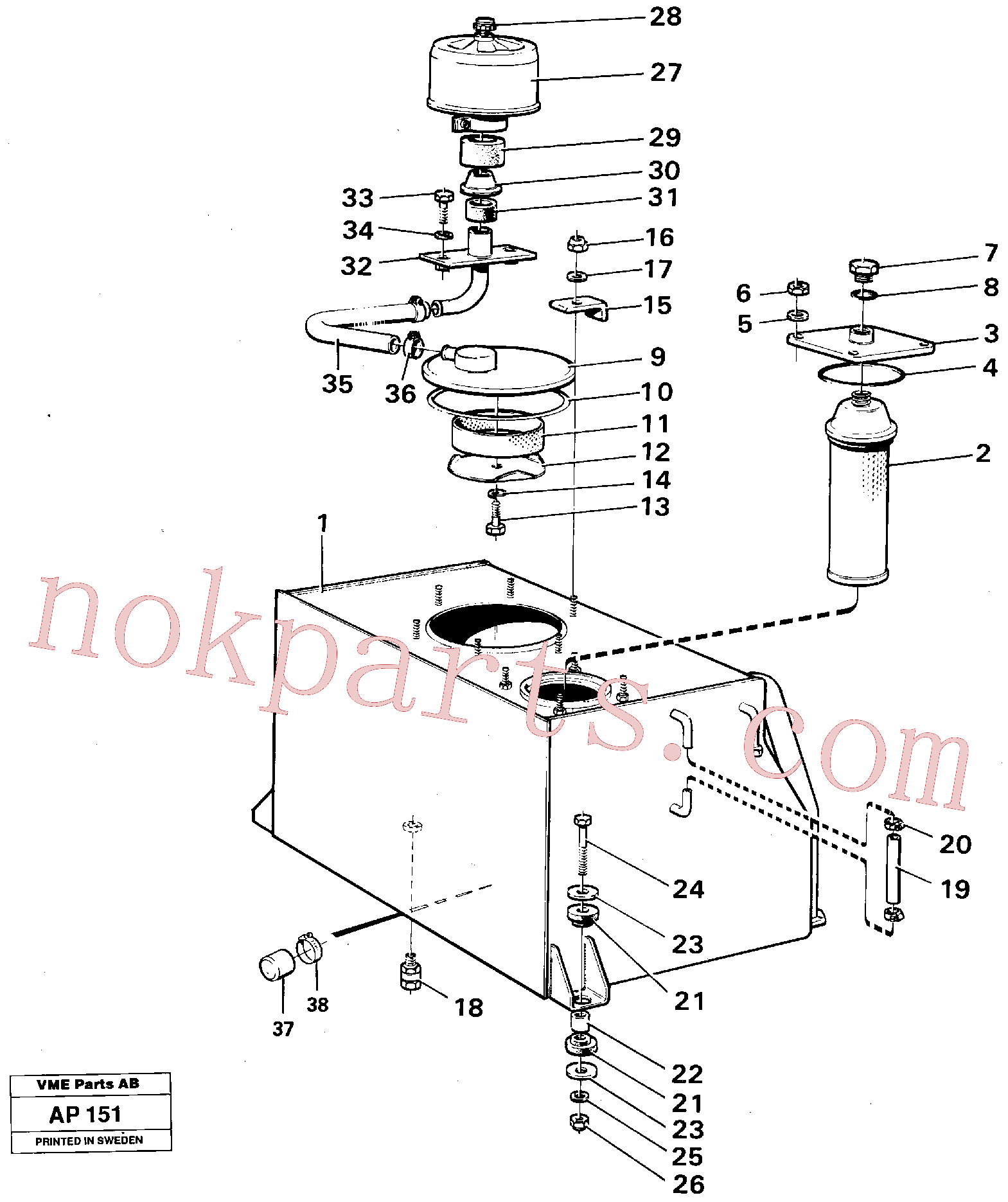 VOE970976 for Volvo Hydraulic tank(AP151 assembly)