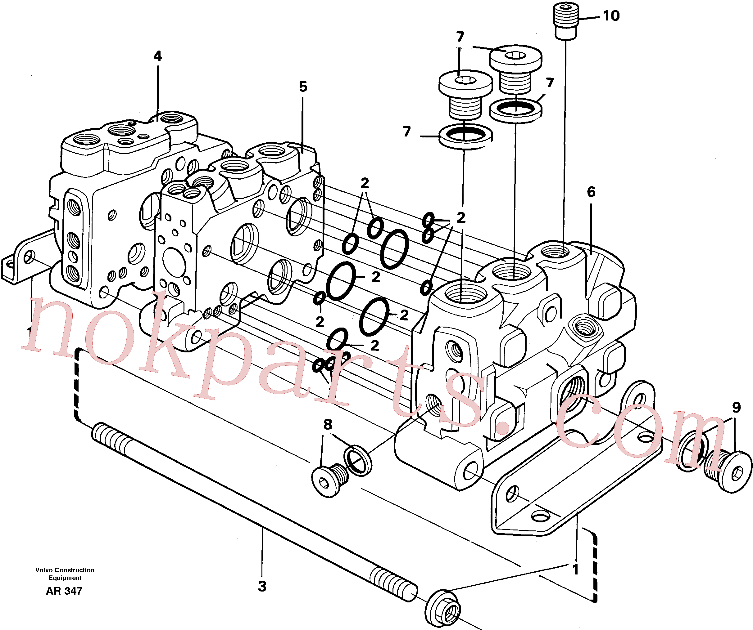 PJ7416644 for Volvo Valve section with assembly parts(AR347 assembly)