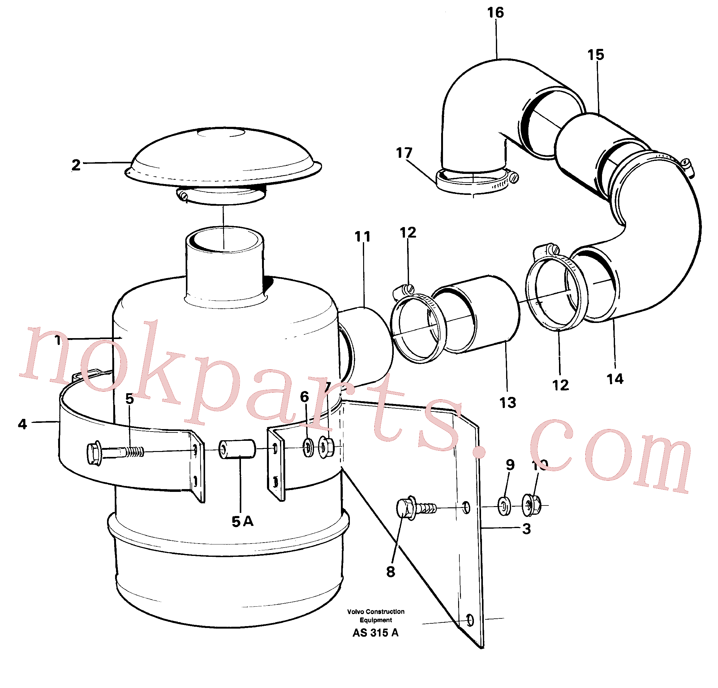 VOE14013962 for Volvo Oil bath filter(AS315A assembly)