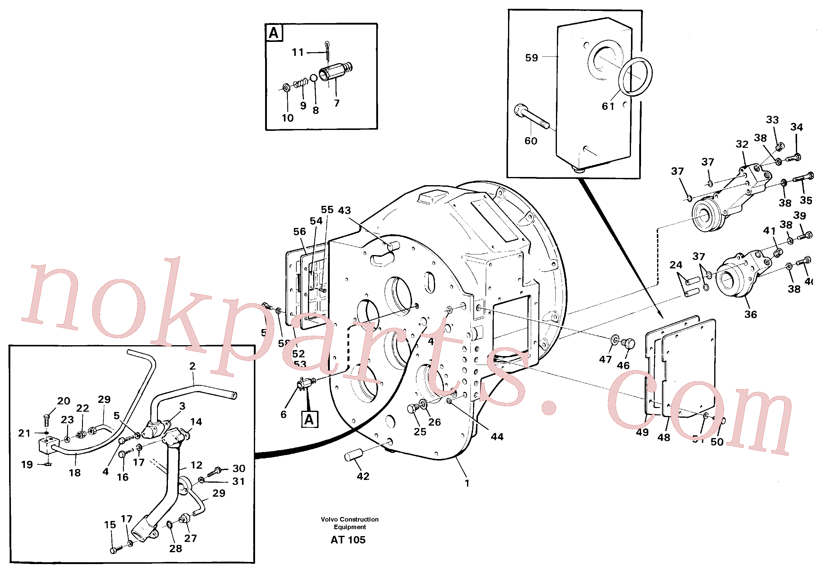 RM14085005 for Volvo Converter housing with assembly parts(AT105 assembly)