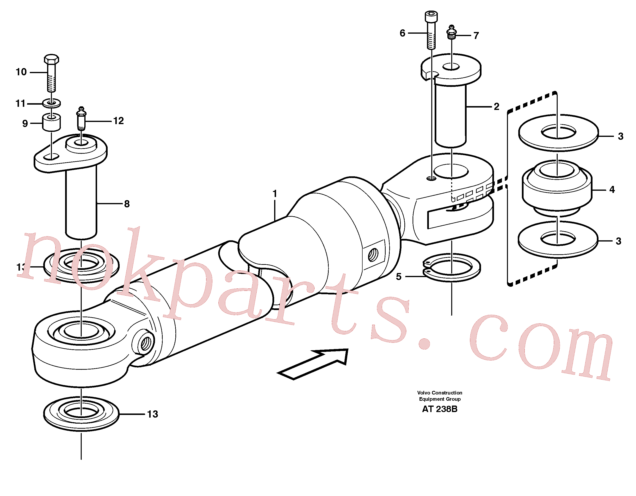 VOE13970972 for Volvo Hydraulic cylinder, assembly(AT238B assembly)