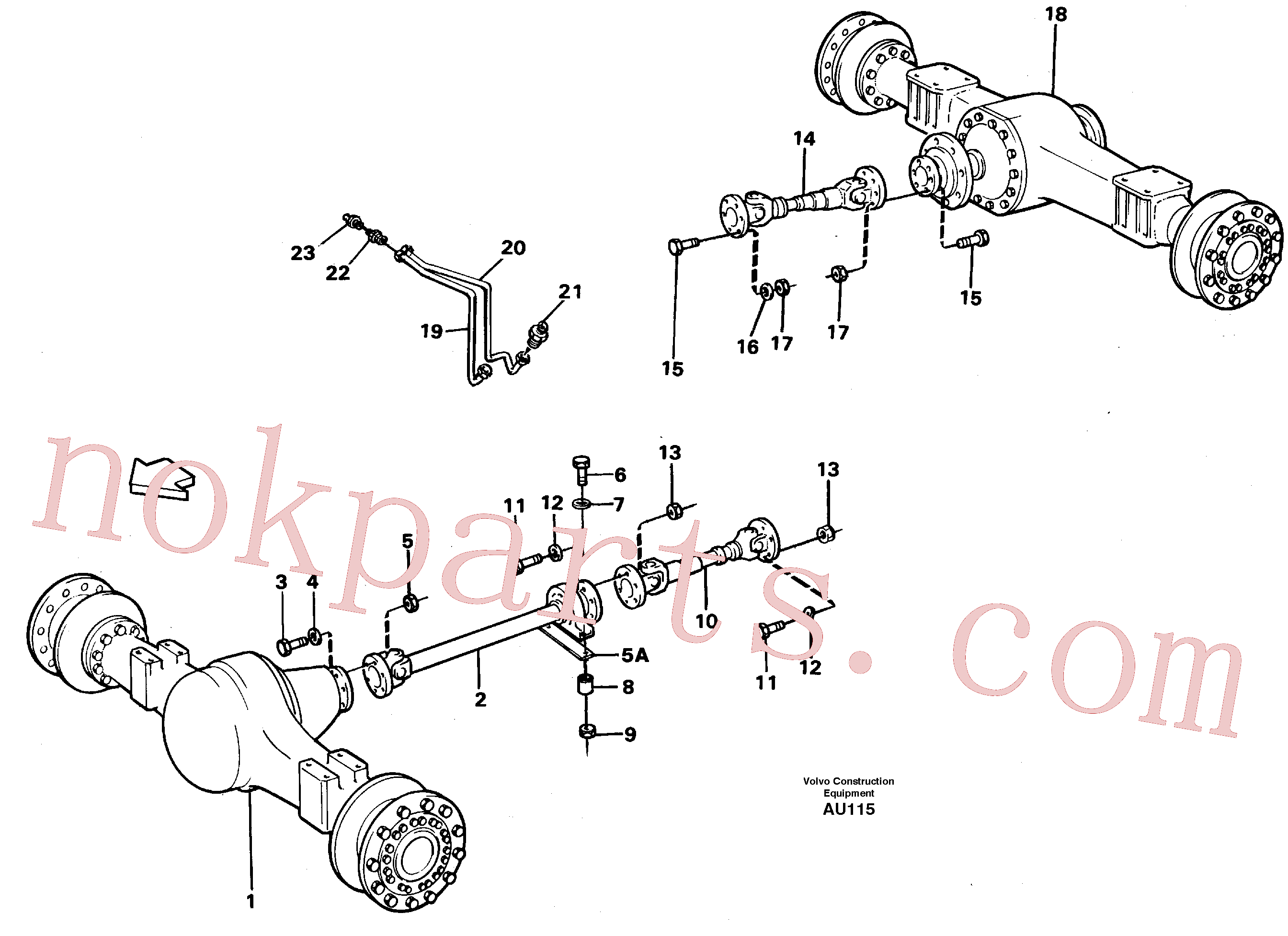VOE11172120 for Volvo Propeller shafts with fitting parts(AU115 assembly)