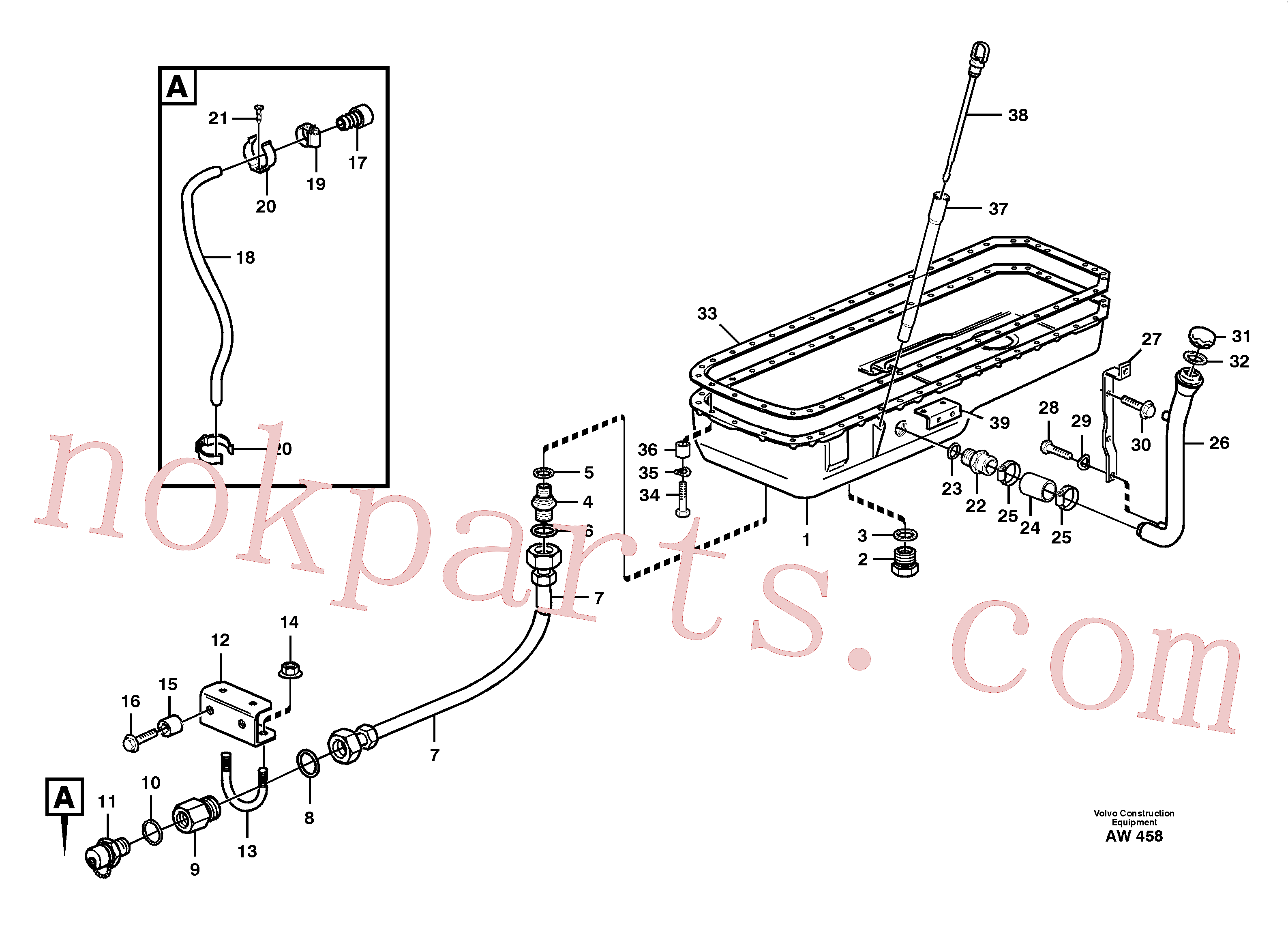 VOE925064 for Volvo Oil sump(AW458 assembly)