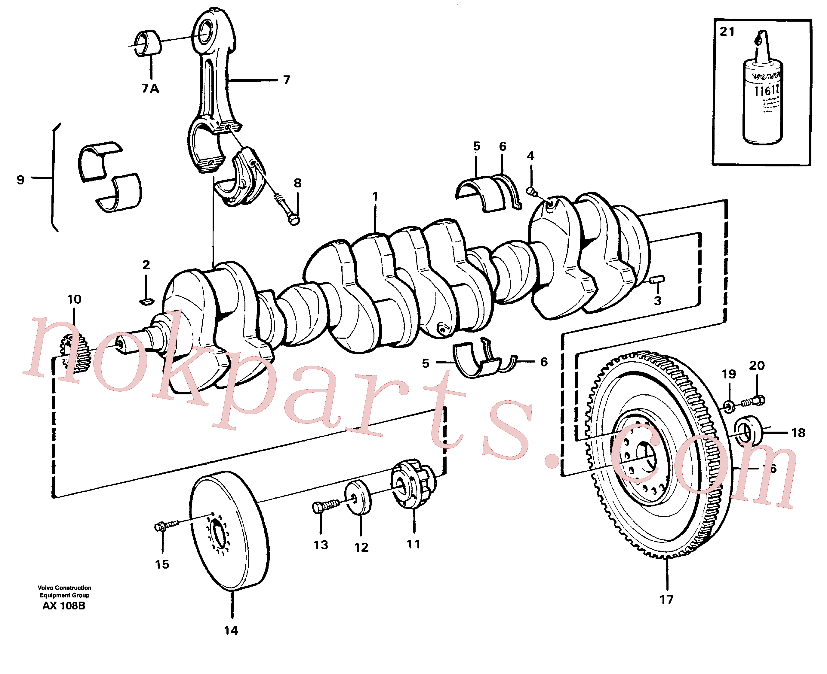 VOE1161231 for Volvo Crankshaft and related parts(AX108B assembly)