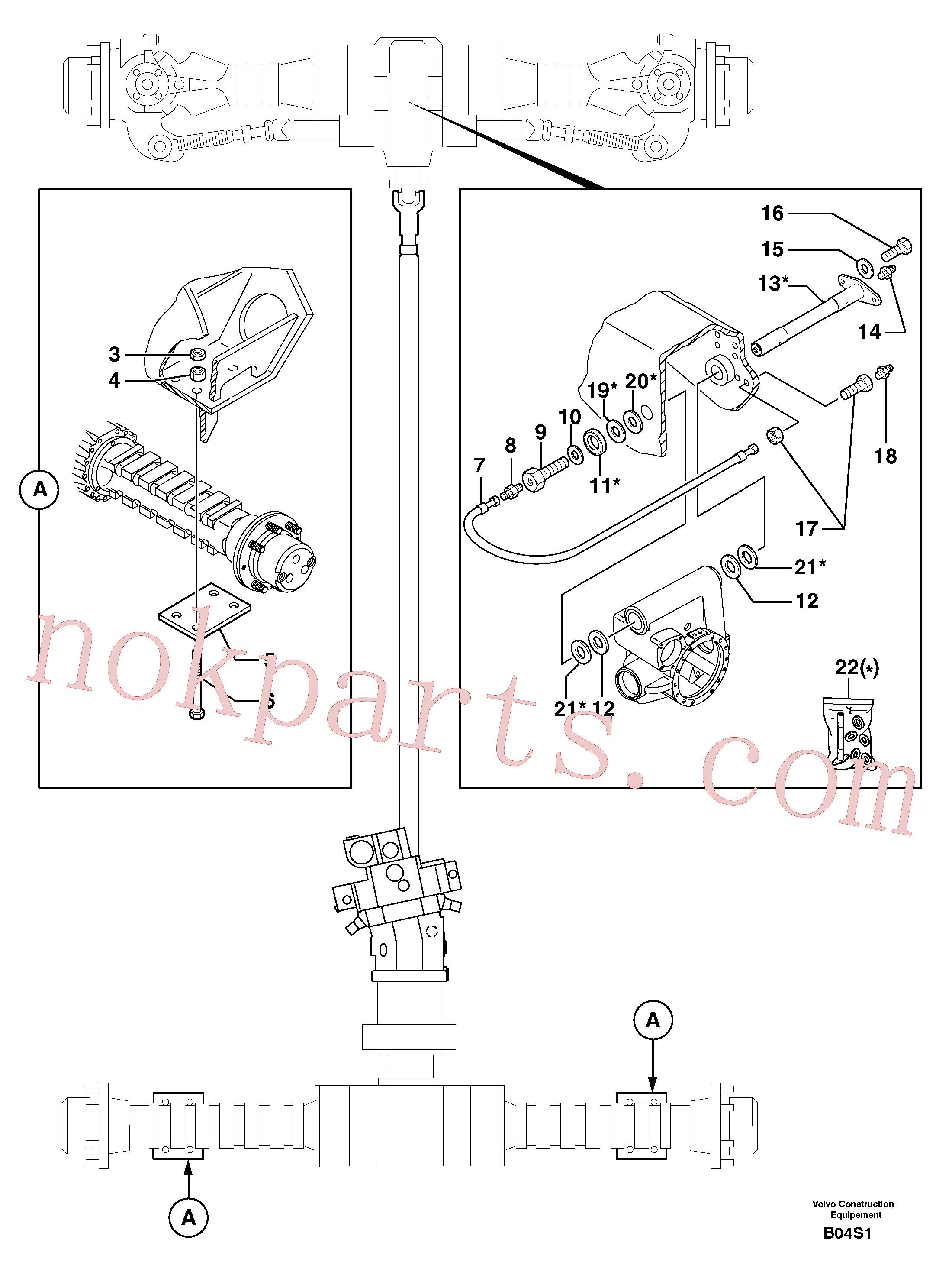 VOE11802456 for Volvo Axle cradles and mountings(B04S1 assembly)