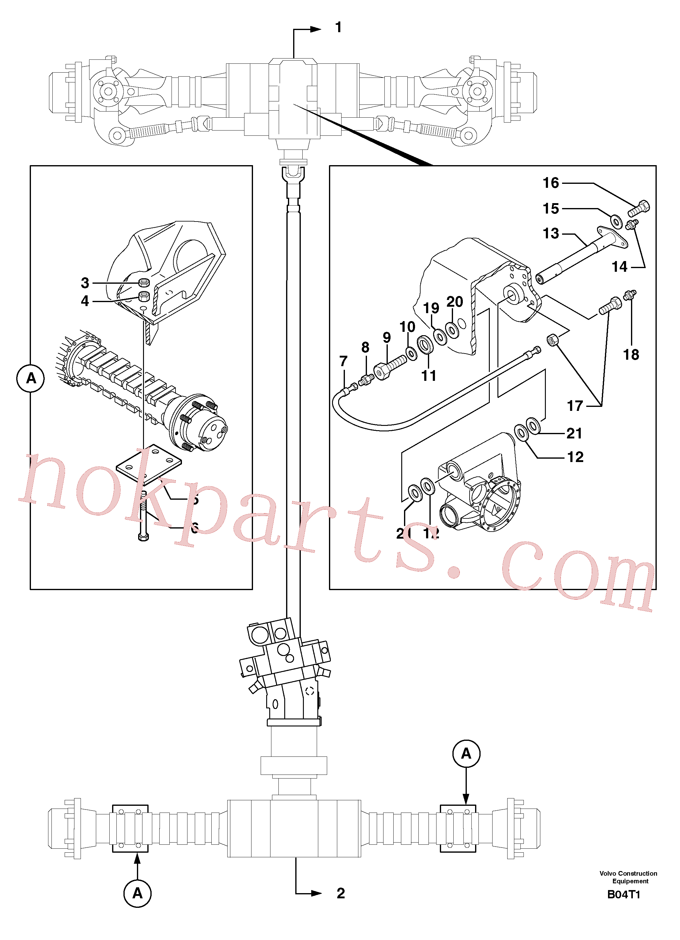 VOE11802456 for Volvo Axle cradles and mountings(B04T1 assembly)