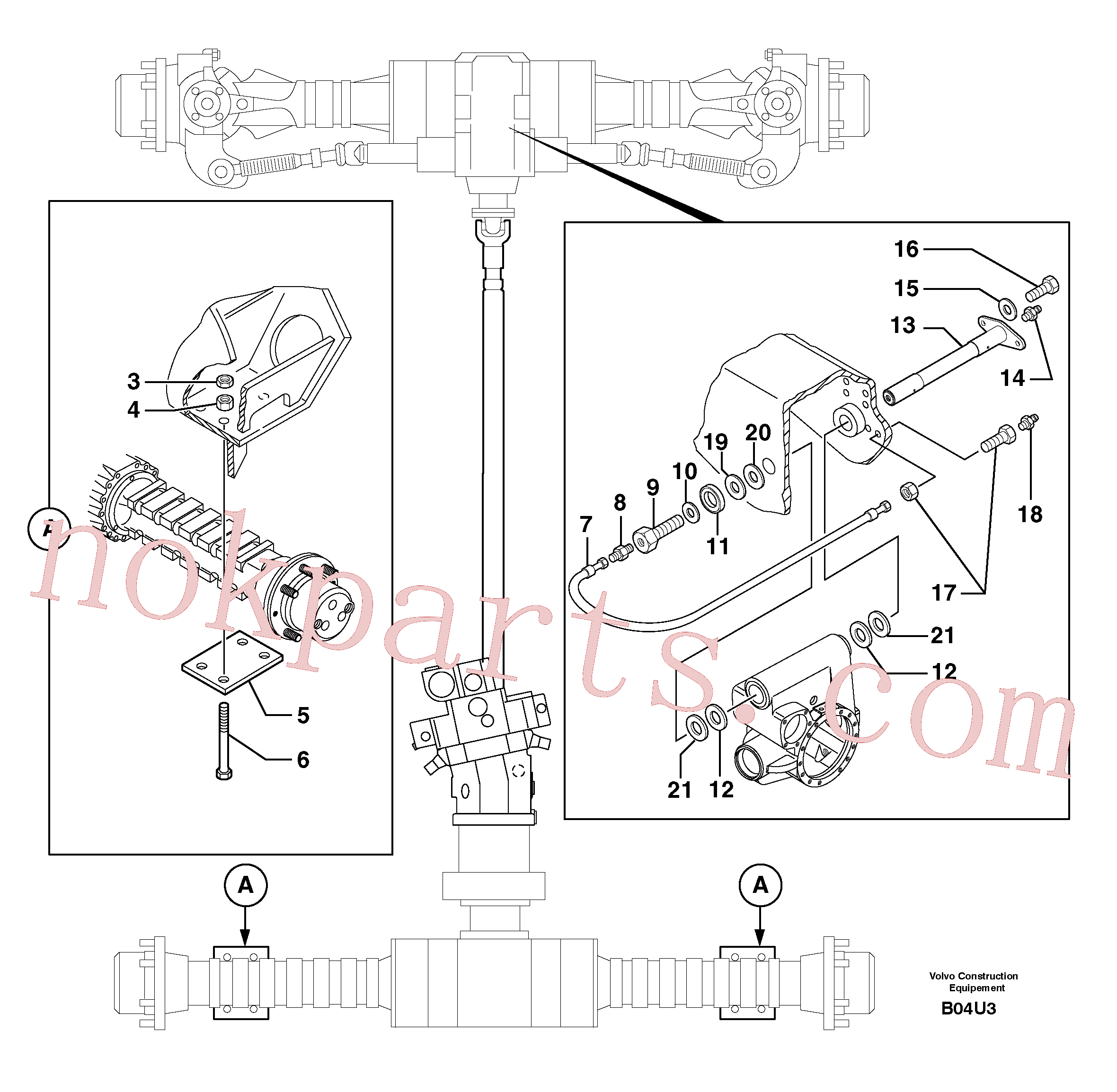 VOE11802456 for Volvo Axle cradles and mountings(B04U3 assembly)