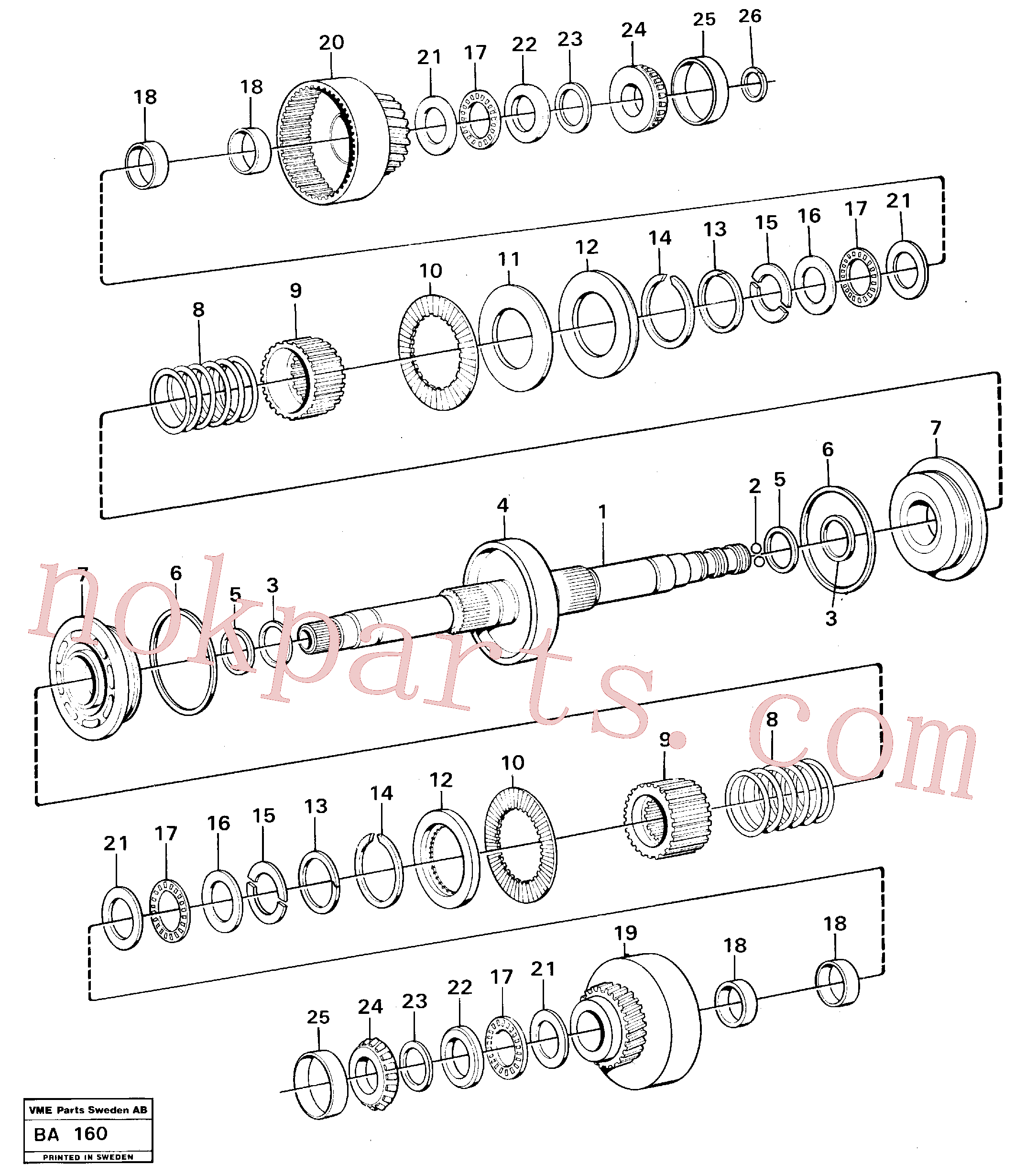 VOE11037270 for Volvo Clutches forward and reverse(BA160 assembly)
