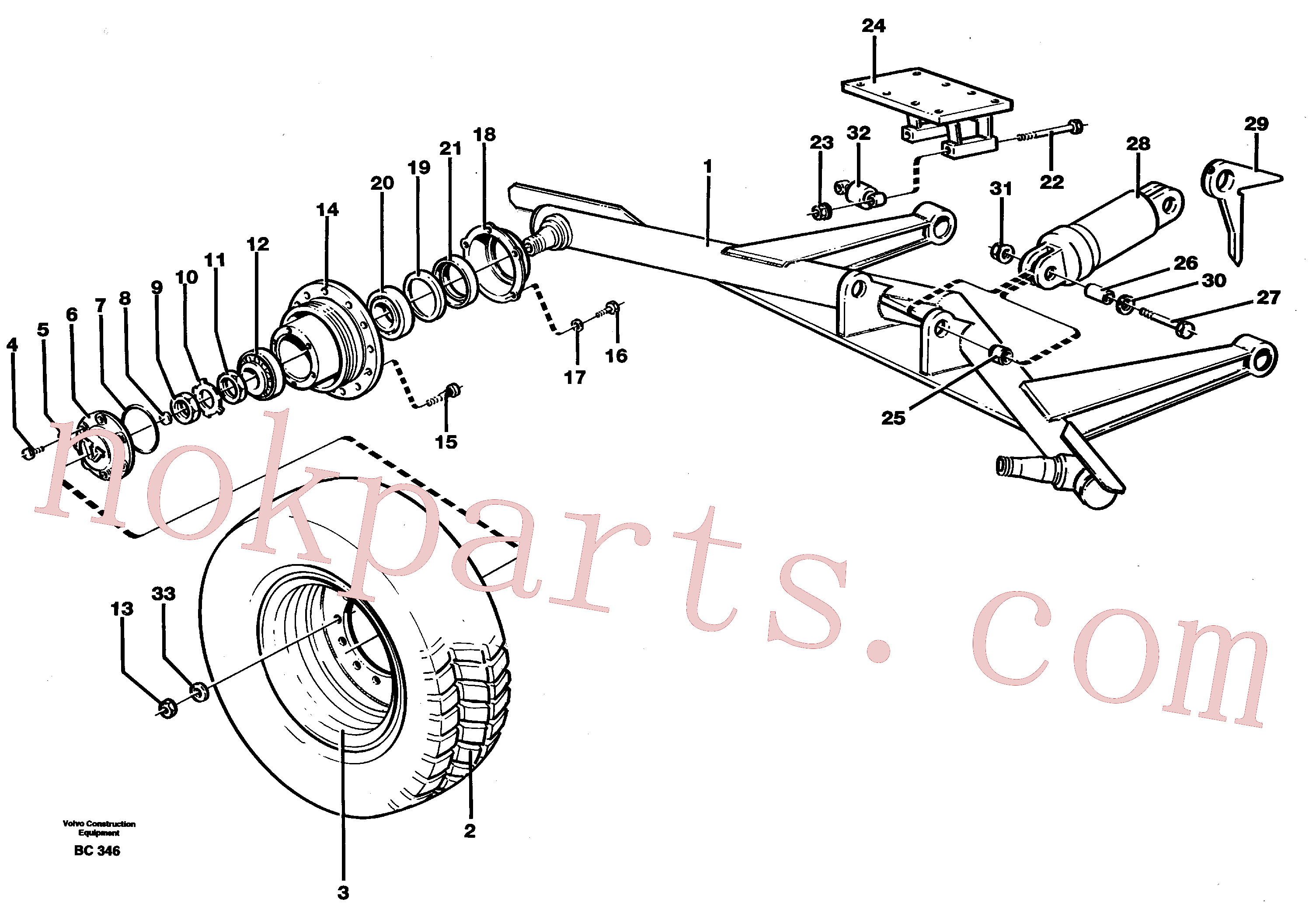 VOE14023496 for Volvo Turn-around wheels(BC346 assembly)
