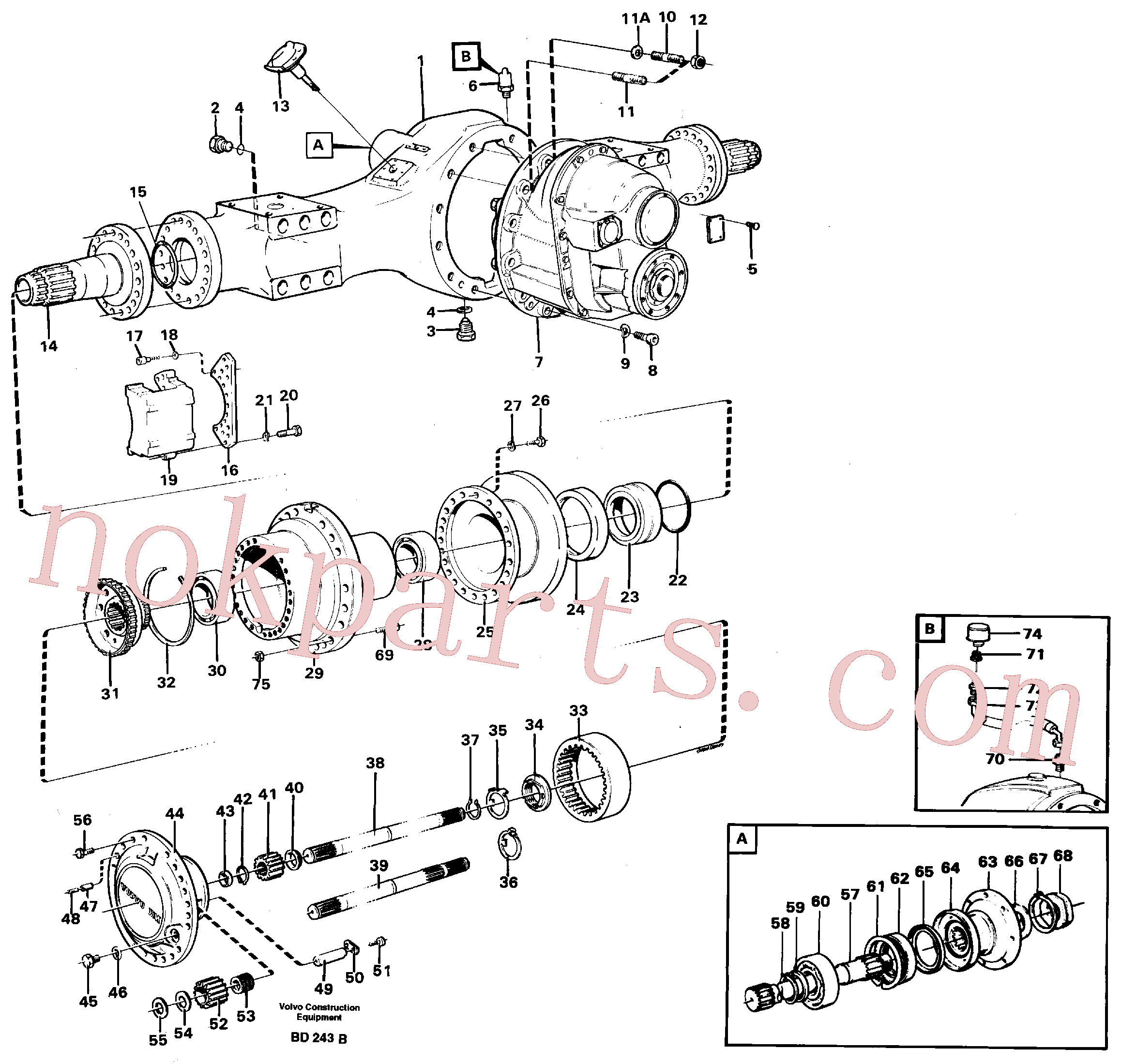 VOE950891 for Volvo Planet shaft(BD243B assembly)