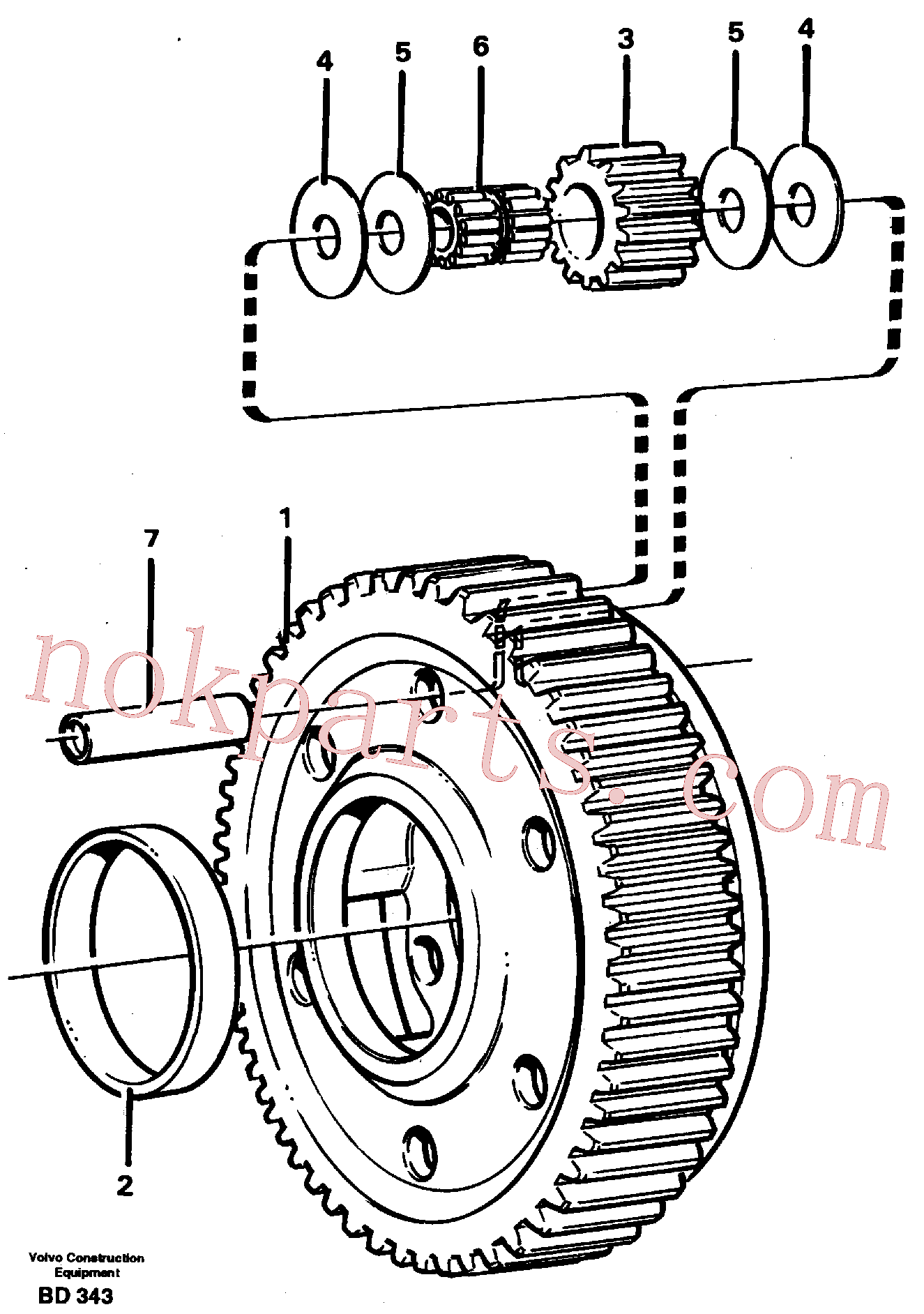 VOE11037424 for Volvo Planet kit, stage 5(BD343 assembly)