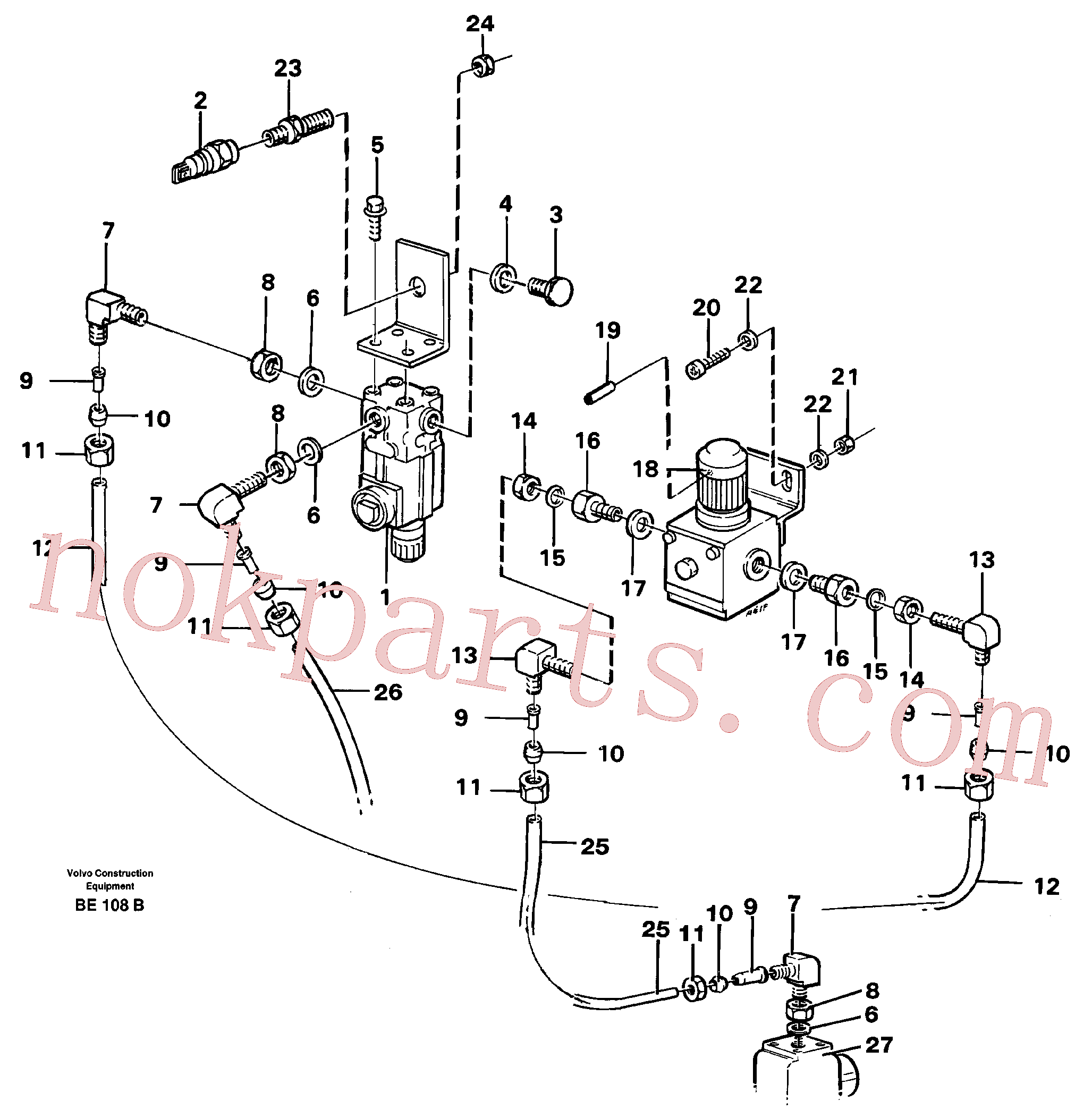 VOE13945892 for Volvo Pneumatic system - gear box(BE108B assembly)
