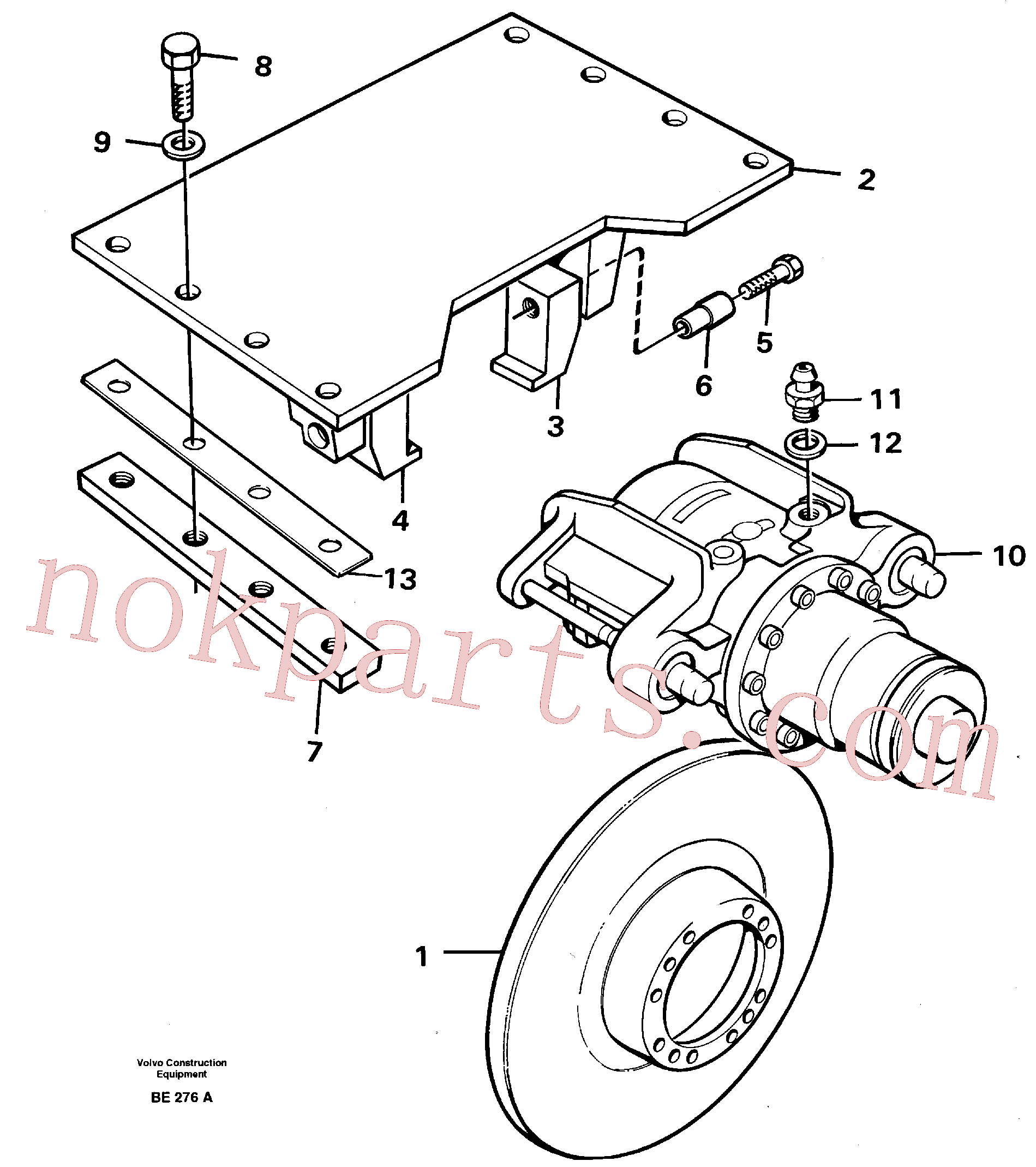 VOE955370 for Volvo Parking brake(BE276A assembly)