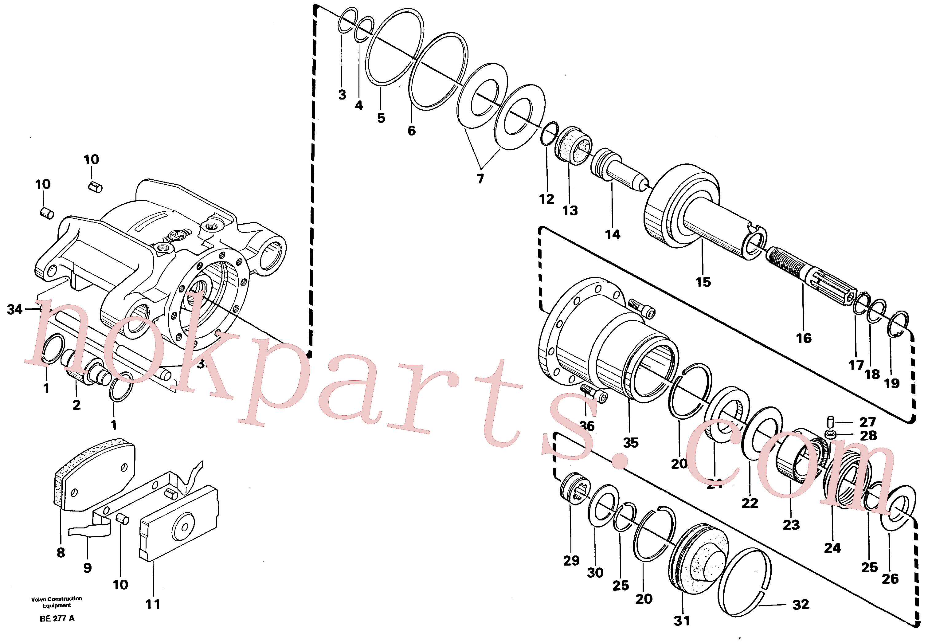 VOE914456 for Volvo Universaljoint brake(BE277A assembly)