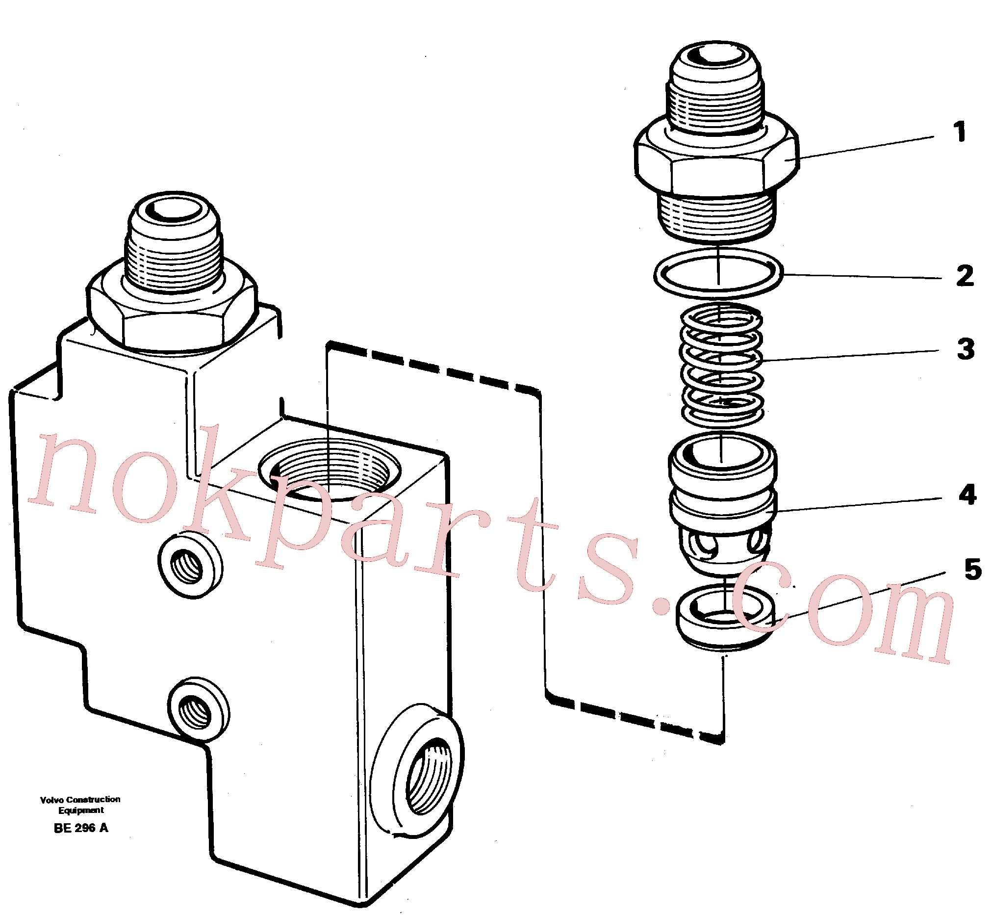 VOE1522550 for Volvo Check valve(BE296A assembly)