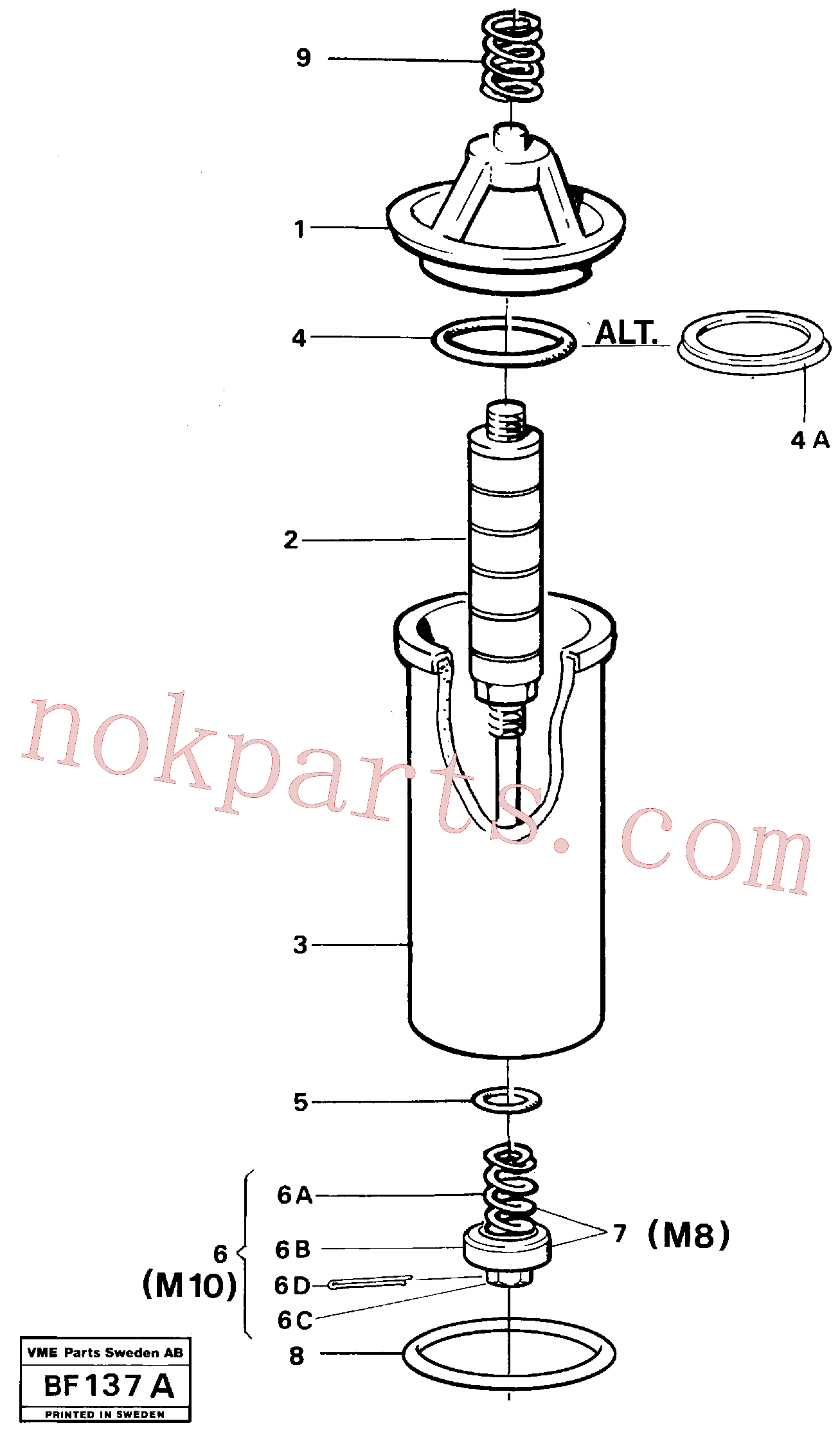 VOE907825 for Volvo Filter(BF137A assembly)