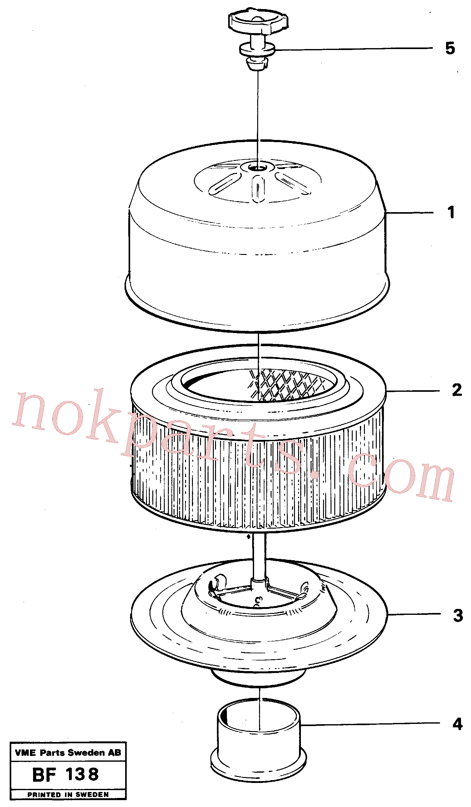 VOE11991336 for Volvo Filter(BF138 assembly)