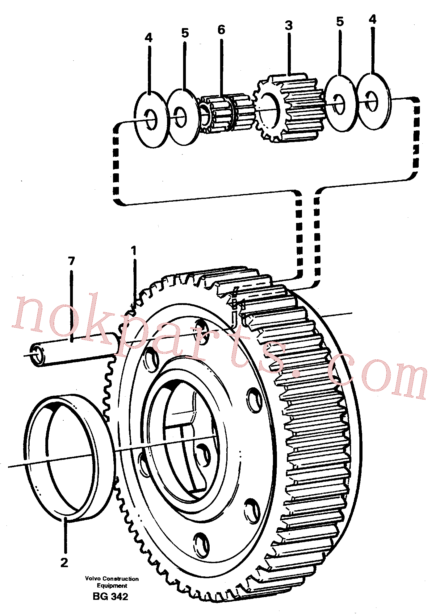 VOE11037424 for Volvo Planet kit, stage 5(BG342 assembly)