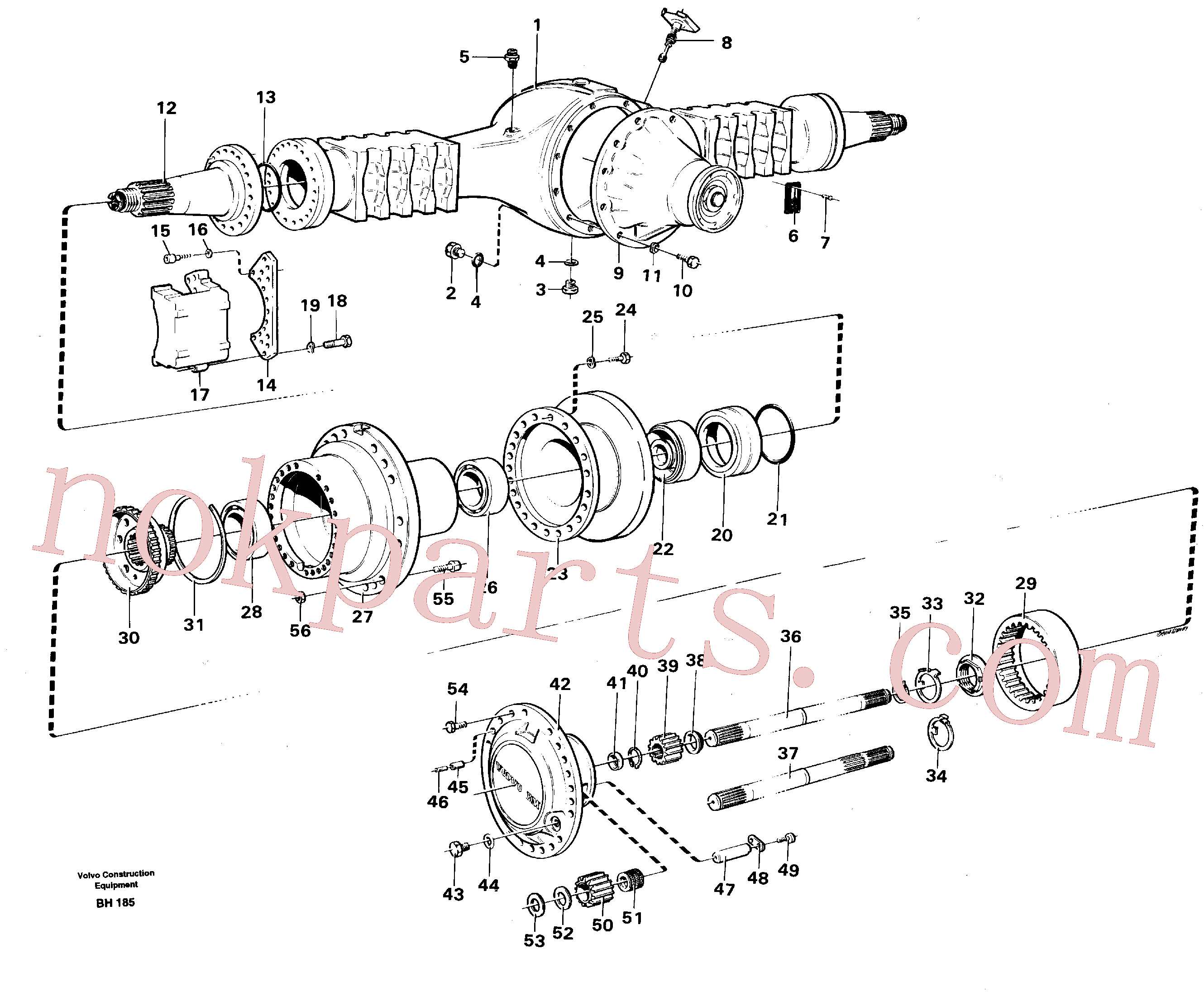 VOE930043 for Volvo Planet axle, rear(BH185 assembly)