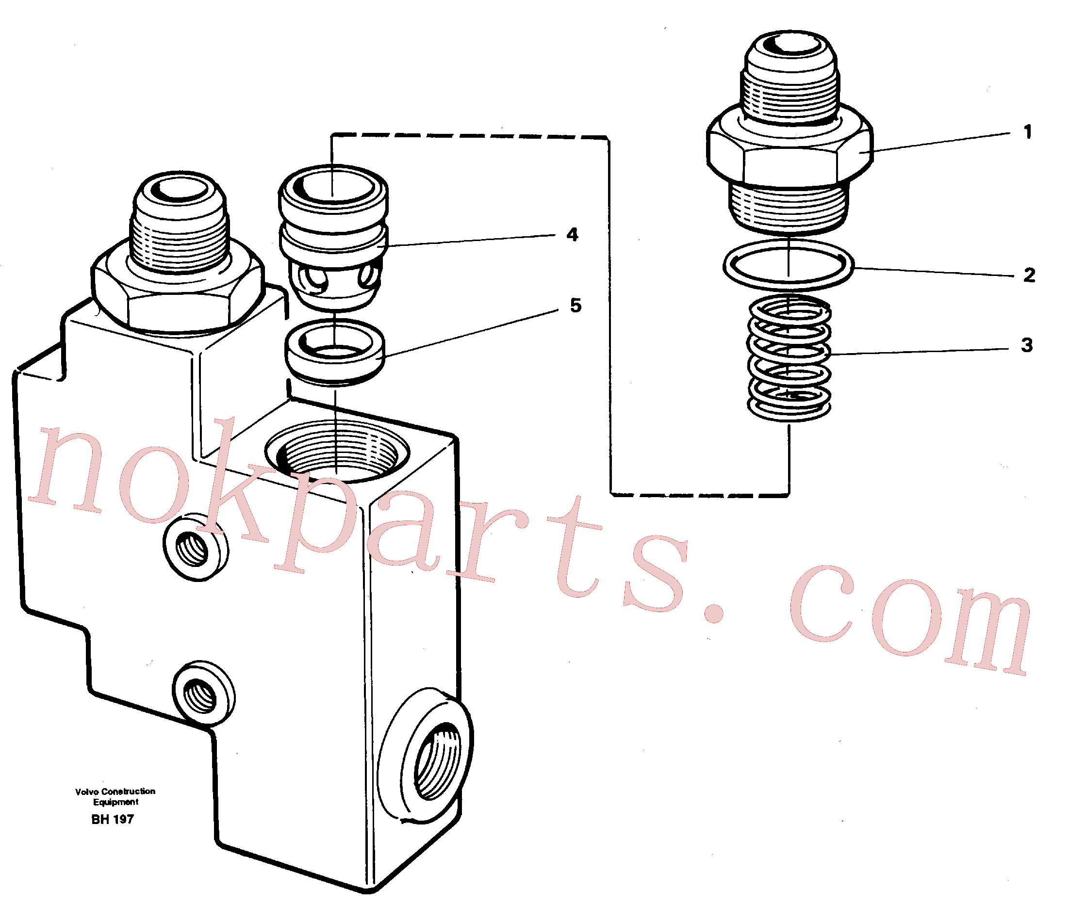 VOE1522550 for Volvo Check valve(BH197 assembly)