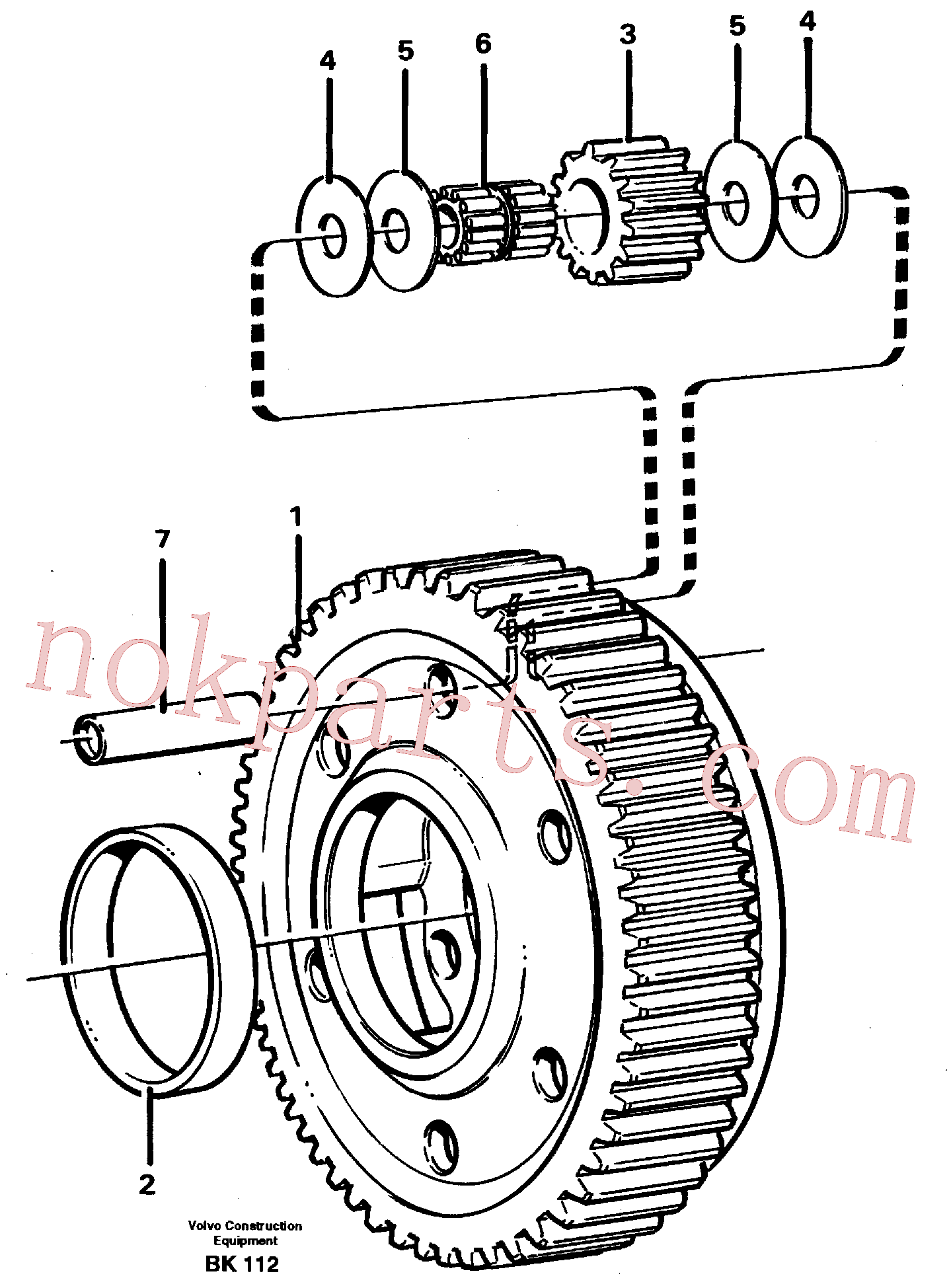 VOE11037424 for Volvo Planet kit, stage 5(BK112 assembly)
