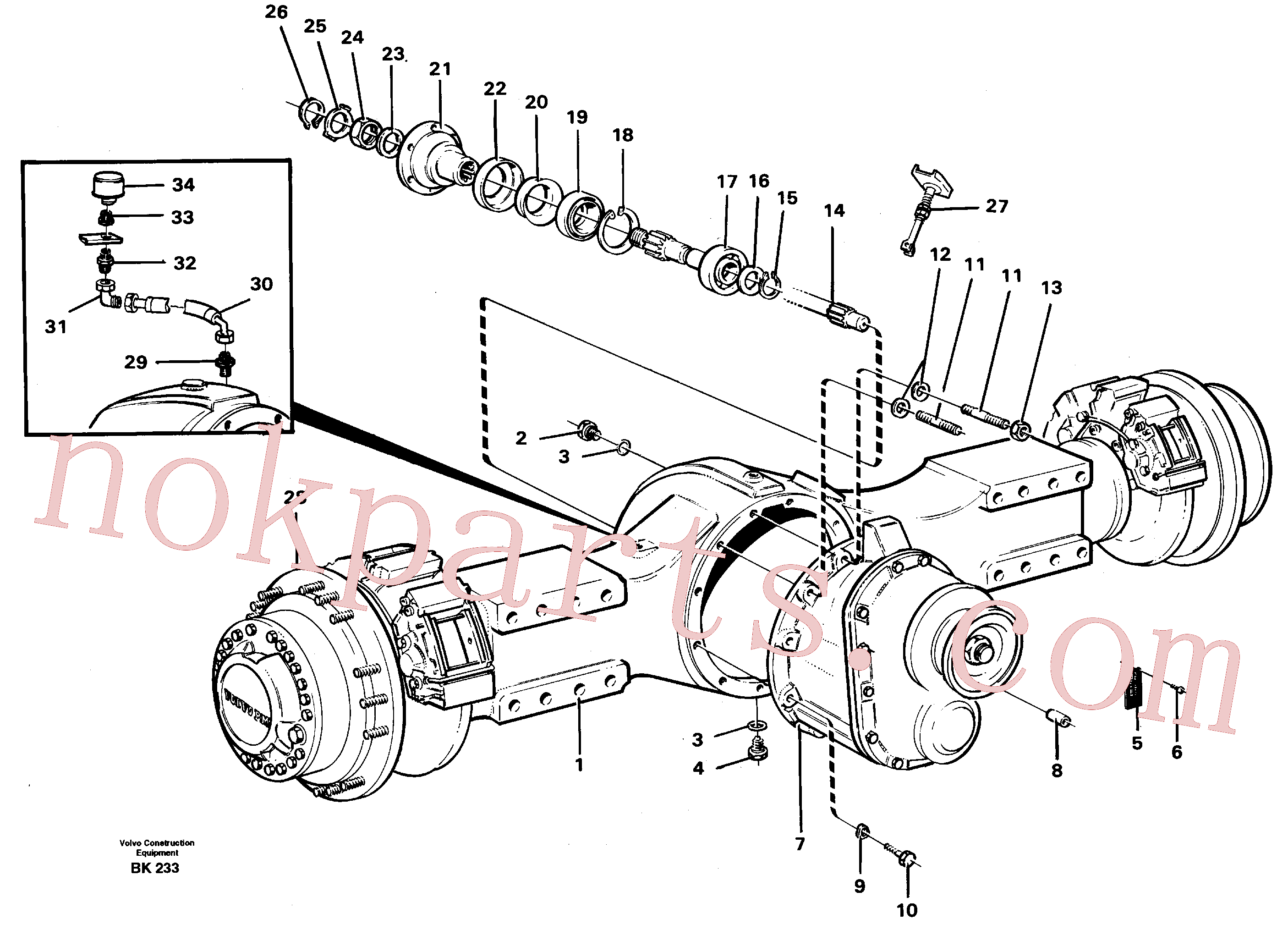 VOE383992 for Volvo Planetary axle, axle 1 load unit(BK233 assembly)
