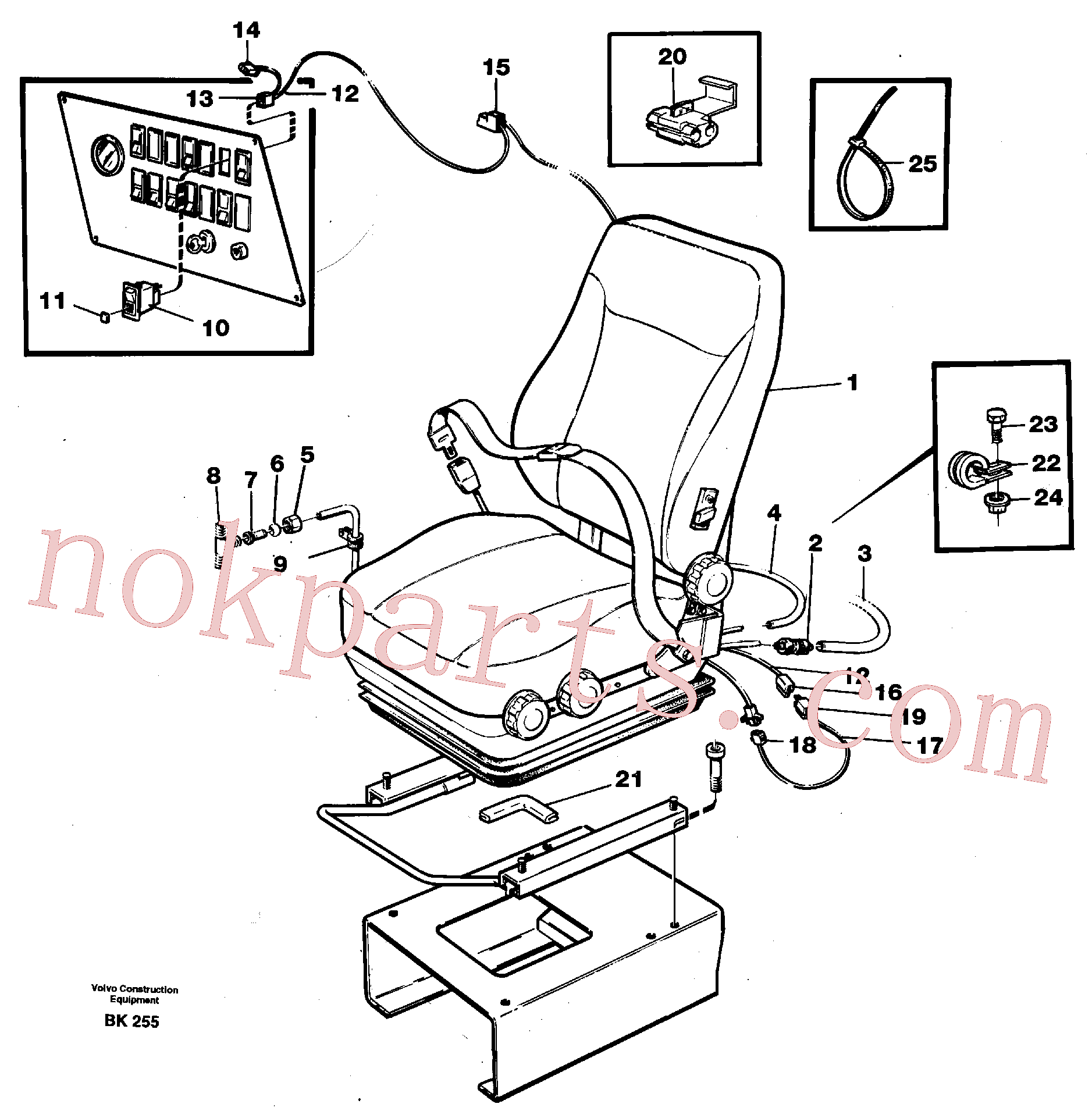 VOE14013853 for Volvo Operator's seat, air suspensioned and heated(BK255 assembly)