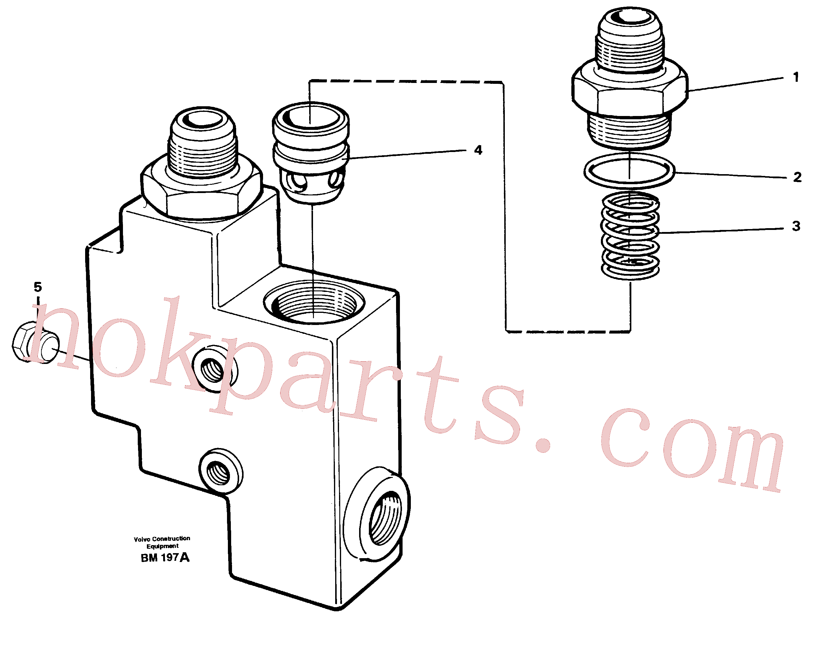 VOE1522550 for Volvo Check valve(BM197A assembly)