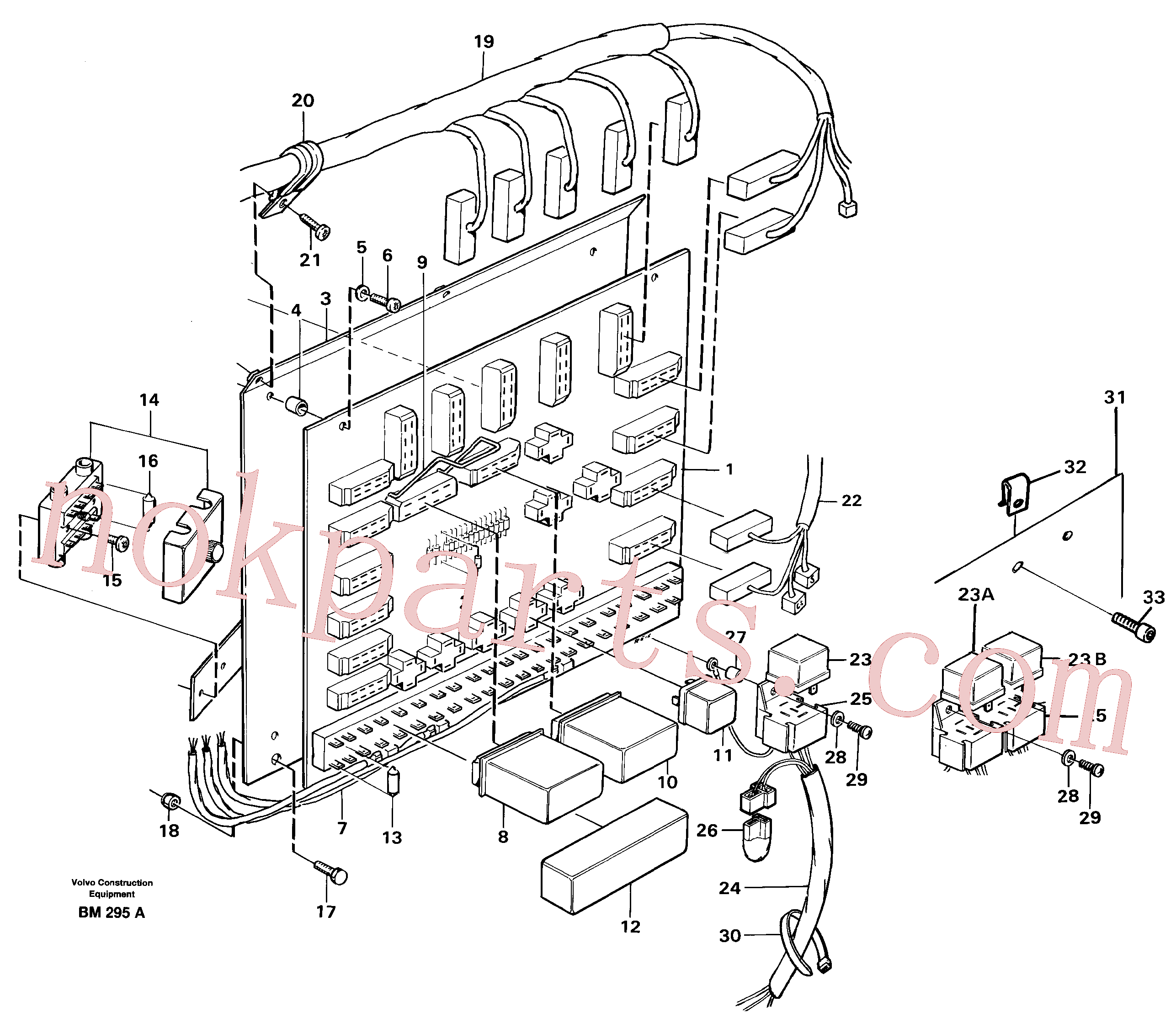 VOE946556 for Volvo Distribution box, right(BM295A assembly)