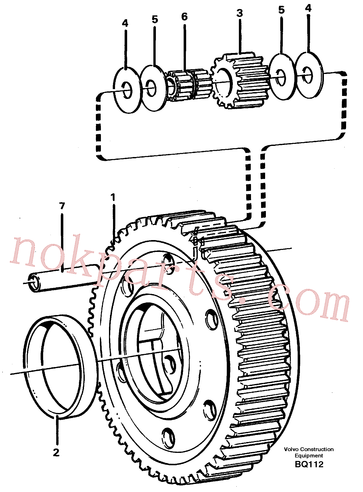 VOE11037424 for Volvo Planet kit, stage 5(BQ112 assembly)