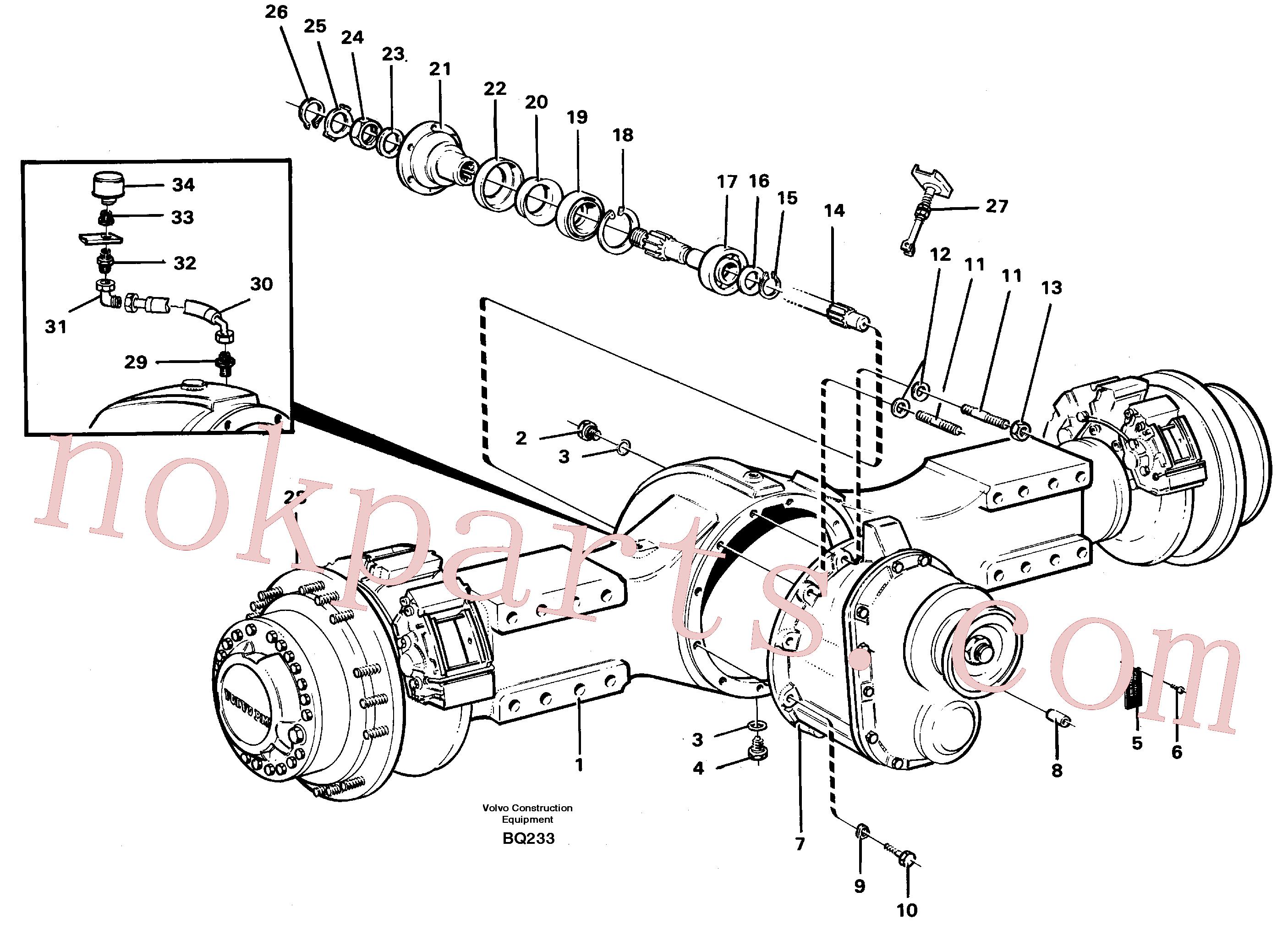 VOE383992 for Volvo Planetary axle, axle 1 load unit(BQ233 assembly)