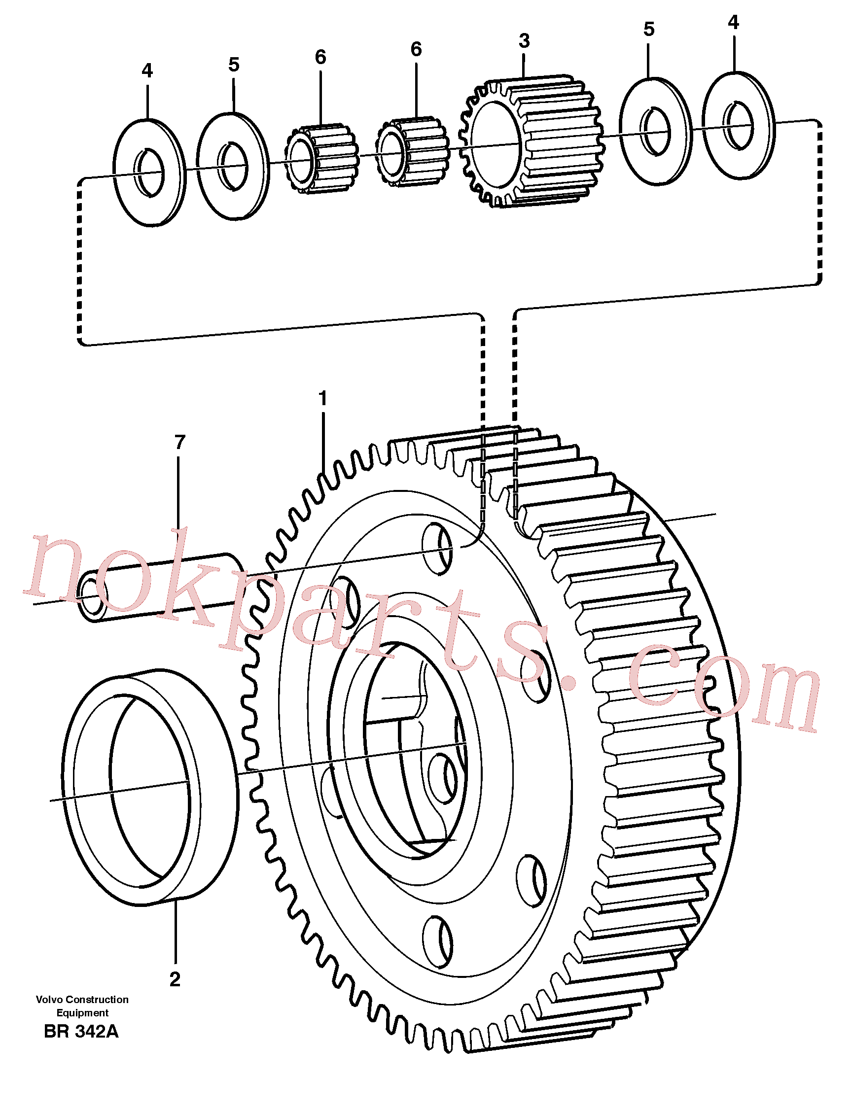 VOE11037424 for Volvo Planet kit, stage 5(BR342A assembly)