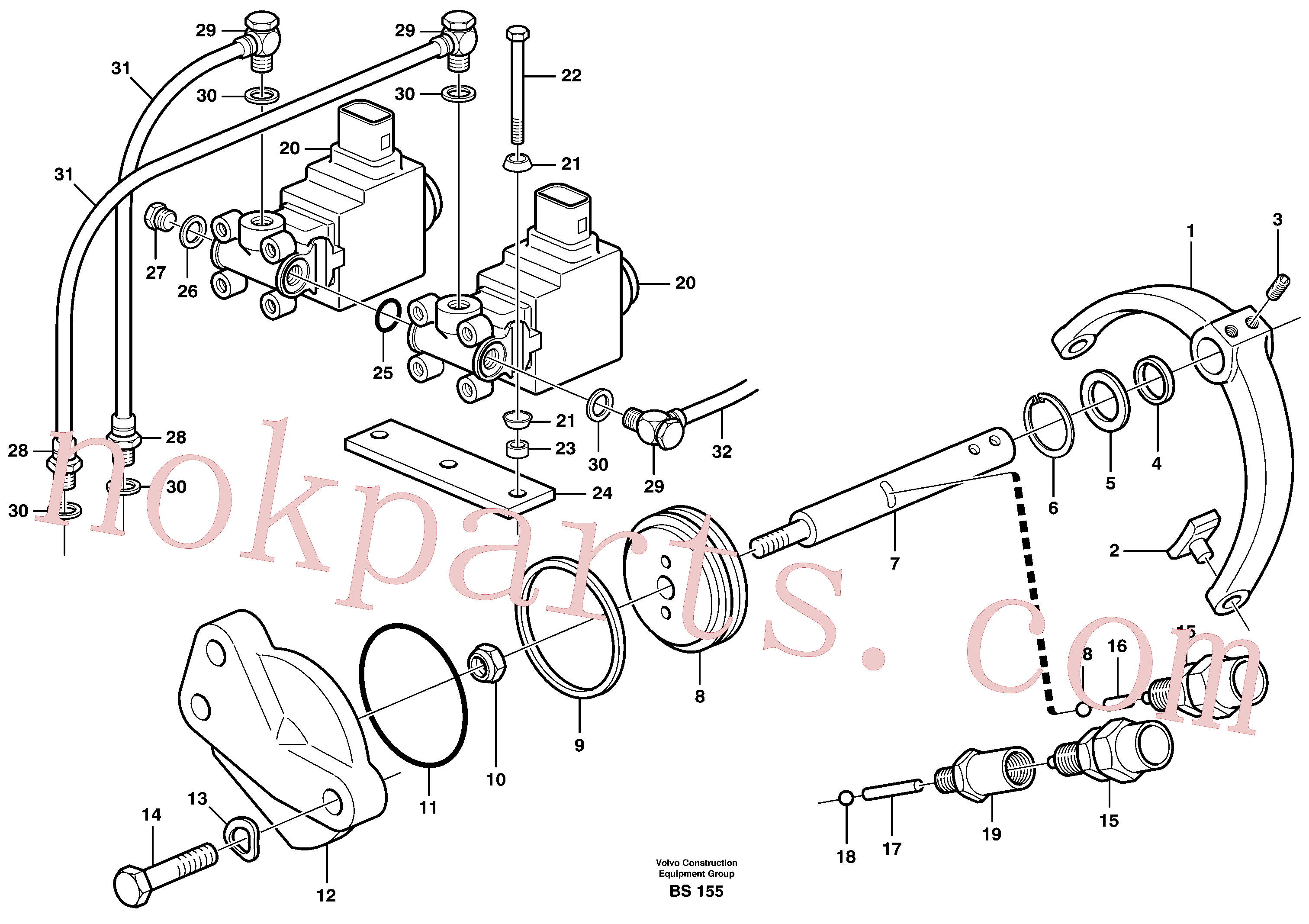 VOE7011994 for Volvo Control for high and low gear(BS155 assembly)