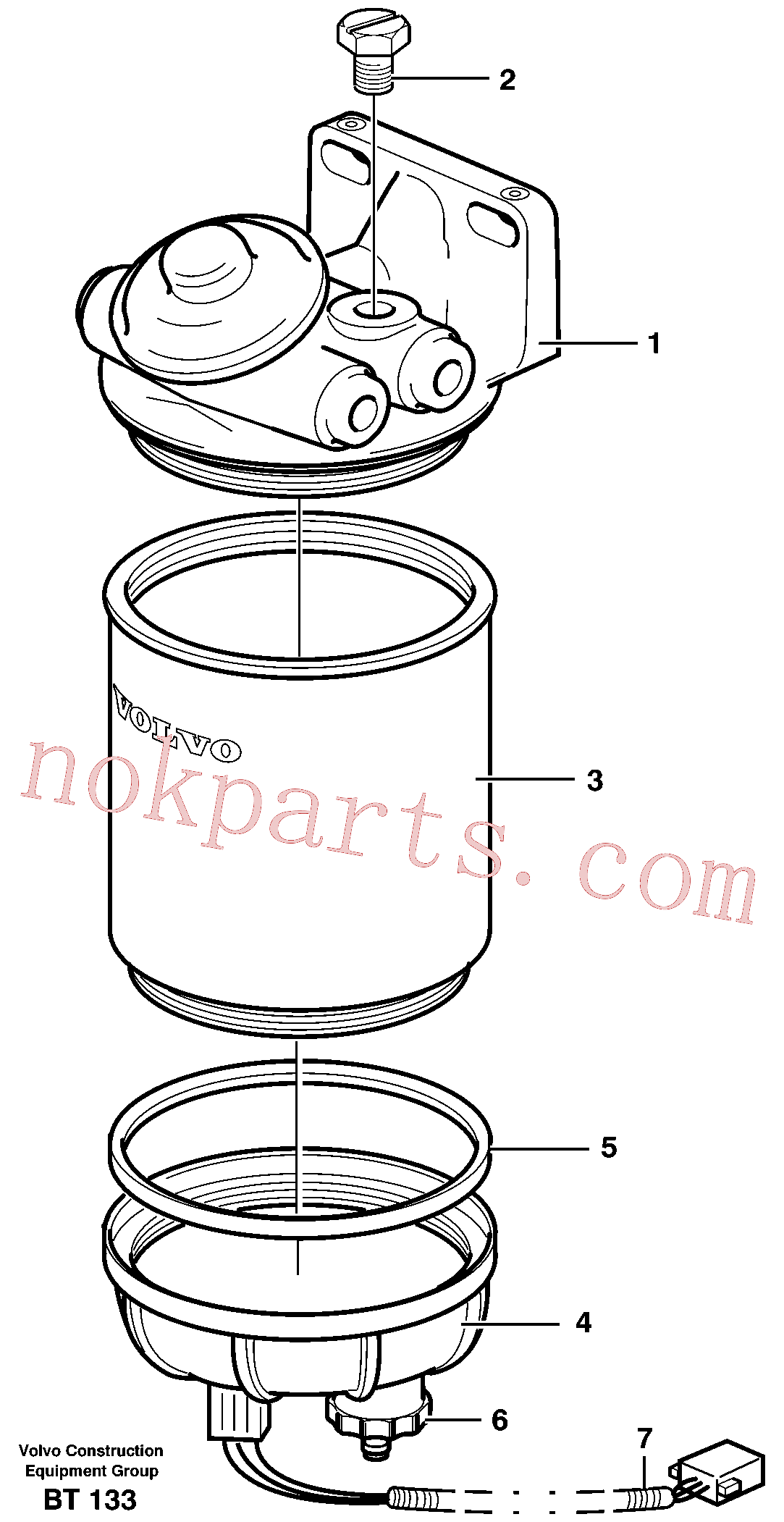 VOE11110683 for Volvo Water separator(BT133 assembly)