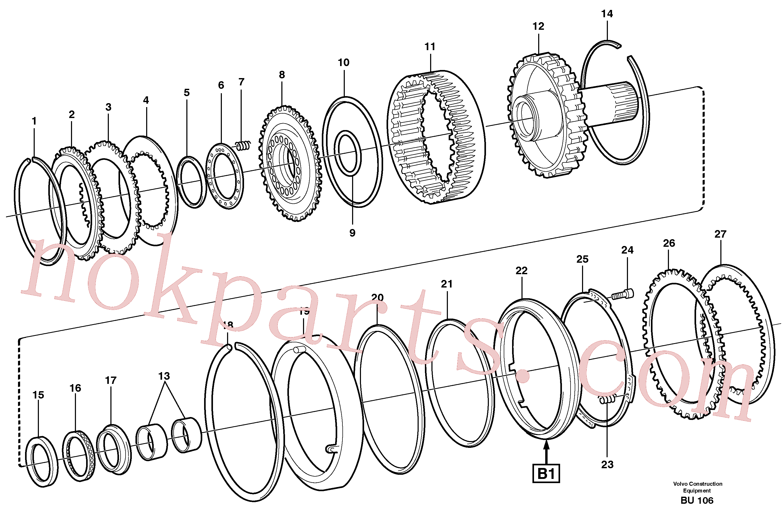 VOE11145596 for Volvo Clutch and brake(BU106 assembly)