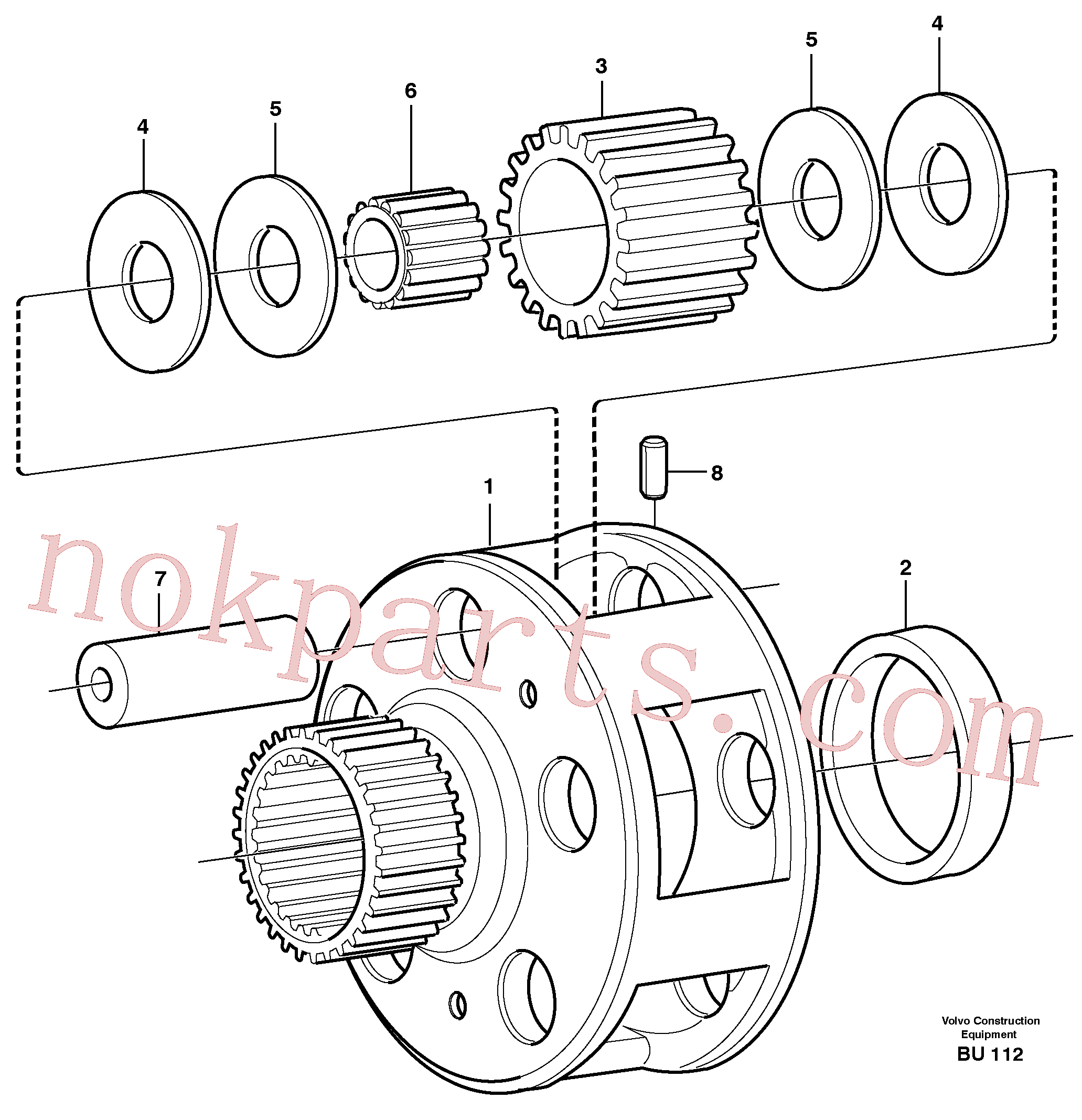 VOE11036753 for Volvo Planet kit, stage 4(BU112 assembly)