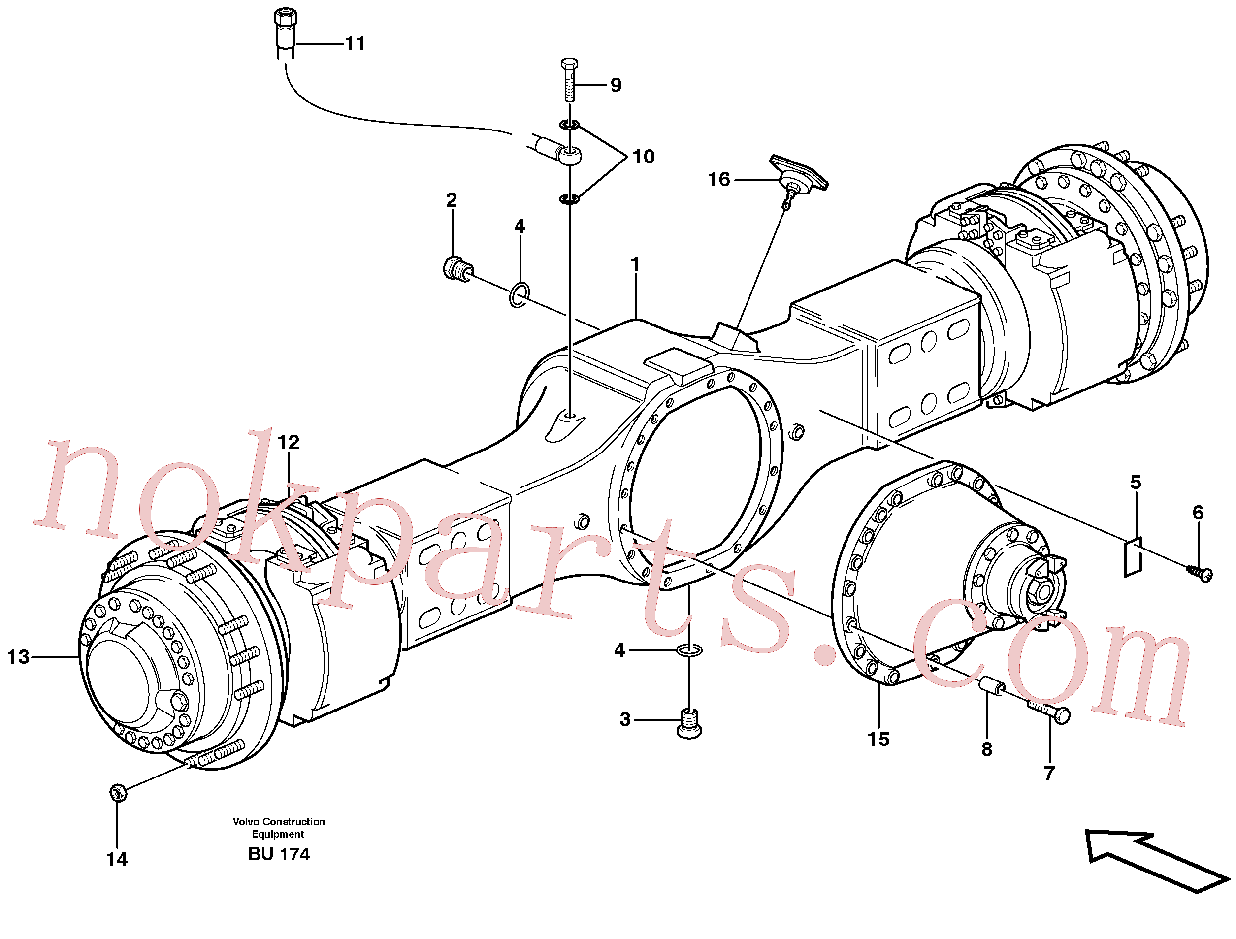 VOE950891 for Volvo Planetary axle, motor unit(BU174 assembly)