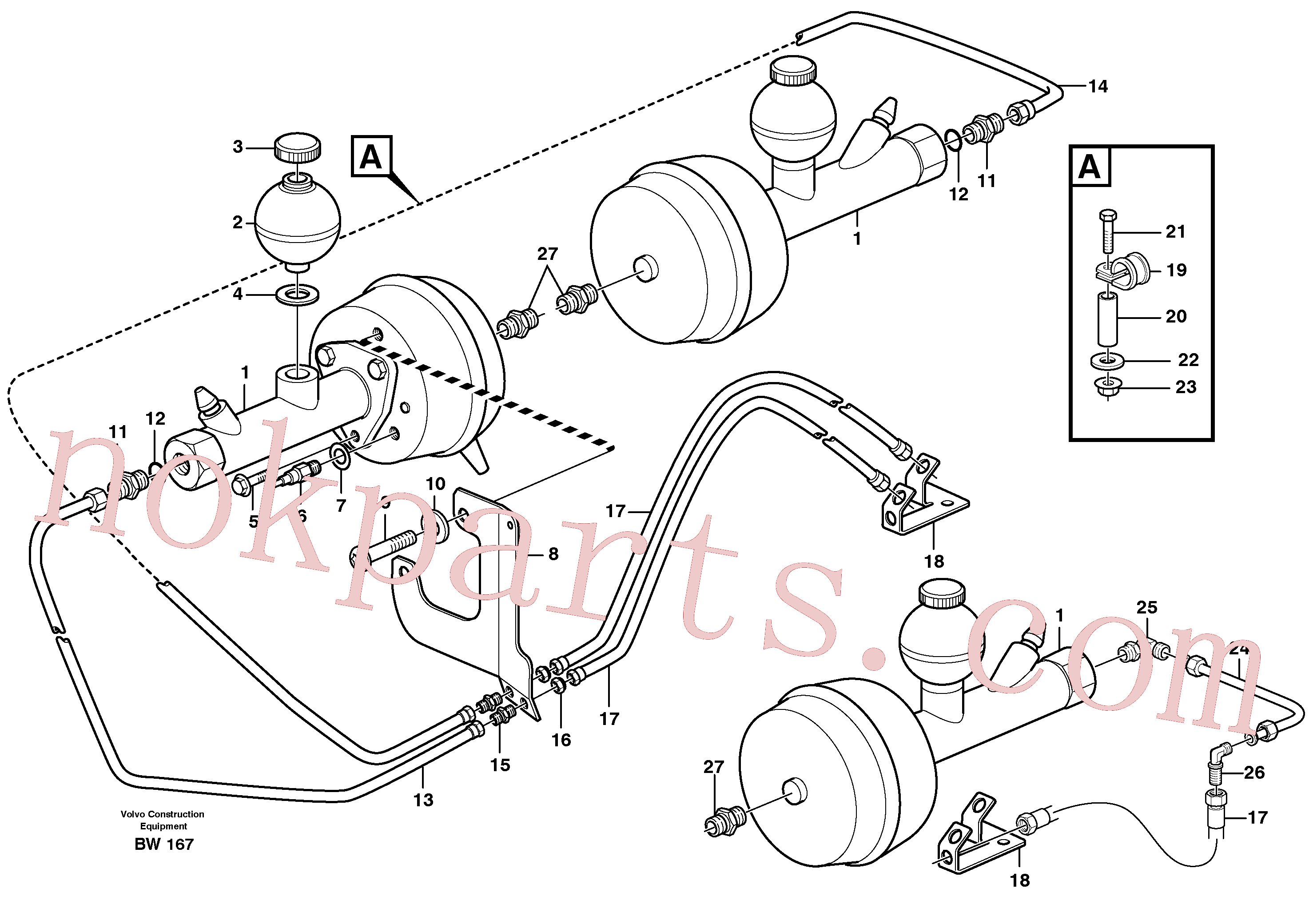 VOE13965178 for Volvo Hydraulic brake system, load unit(BW167 assembly)