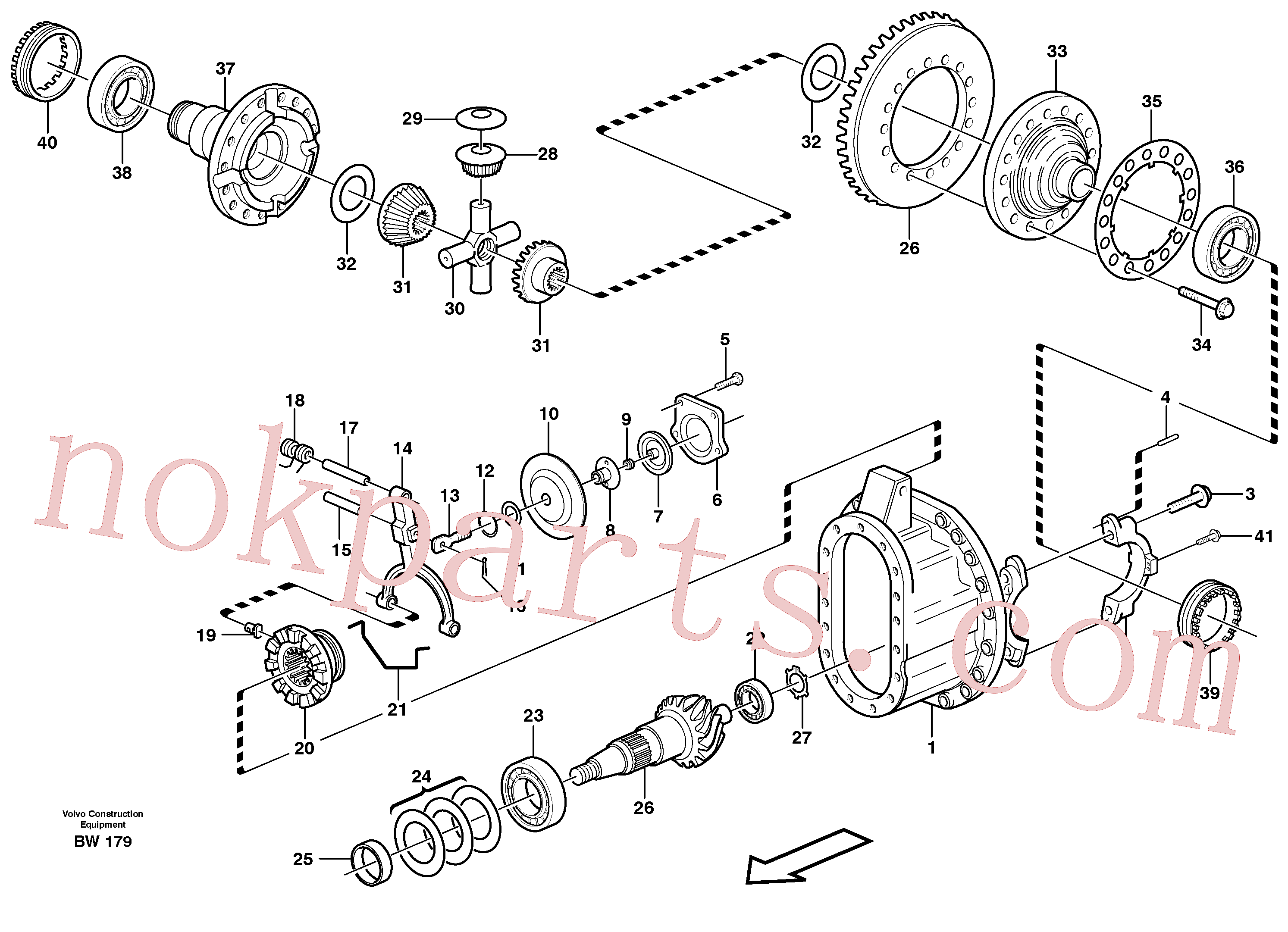 VOE11102655 for Volvo Final drive(BW179 assembly)
