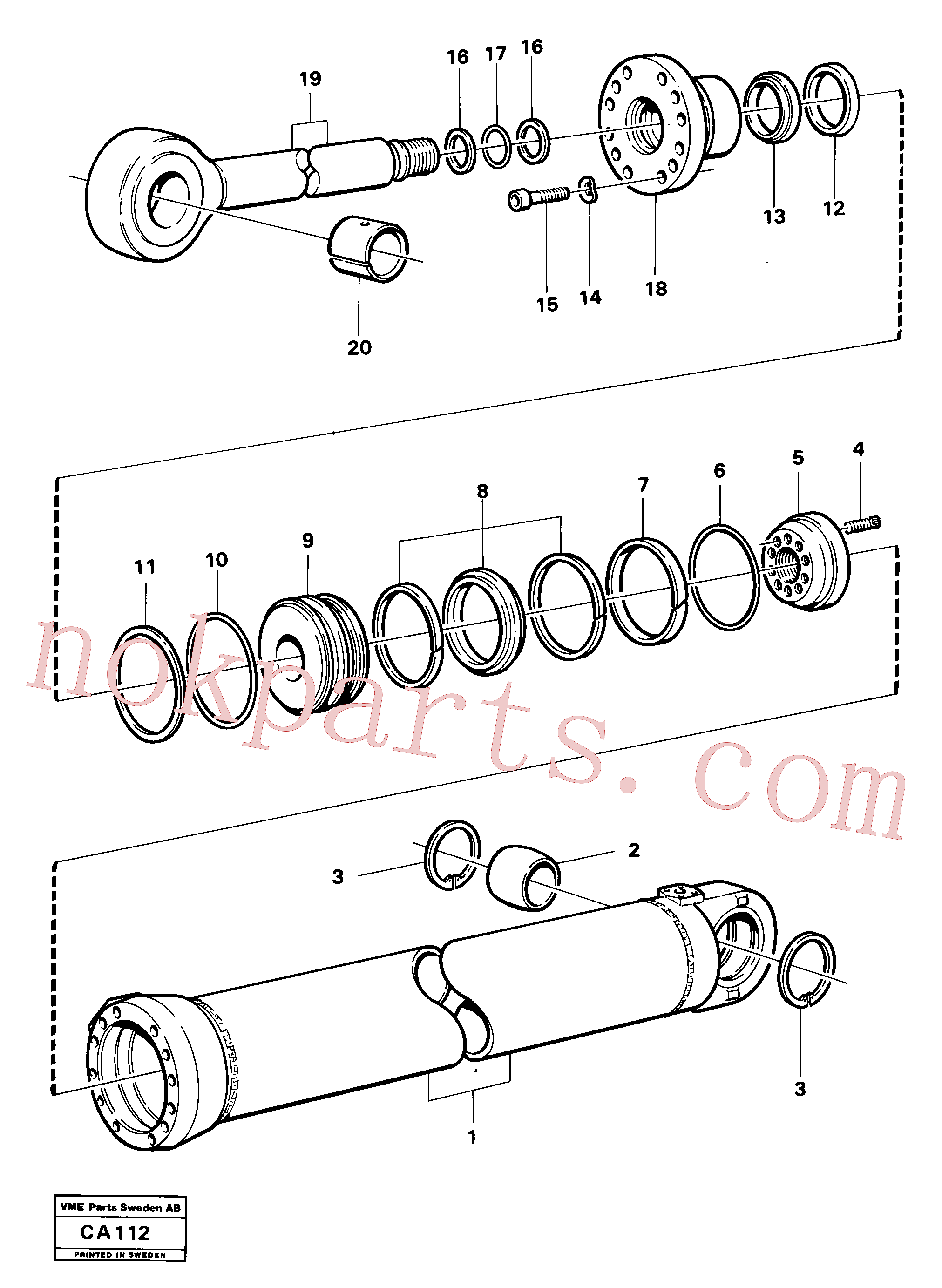 VOE11005208 for Volvo Hydraulic cylinder jib cylinder(CA112 assembly)