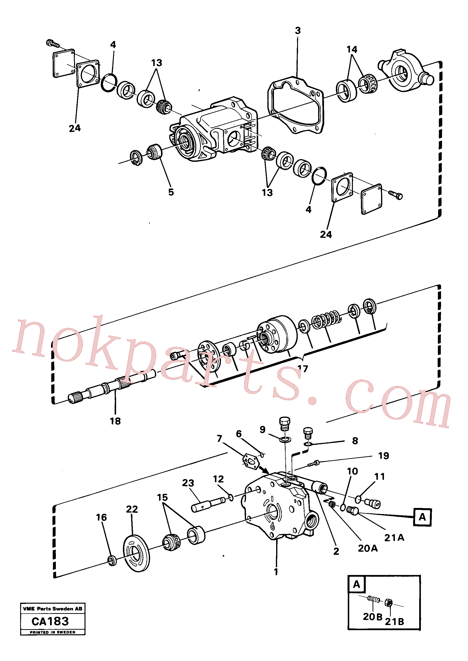 VOE11993484 for Volvo Hydraulic pump(CA183 assembly)